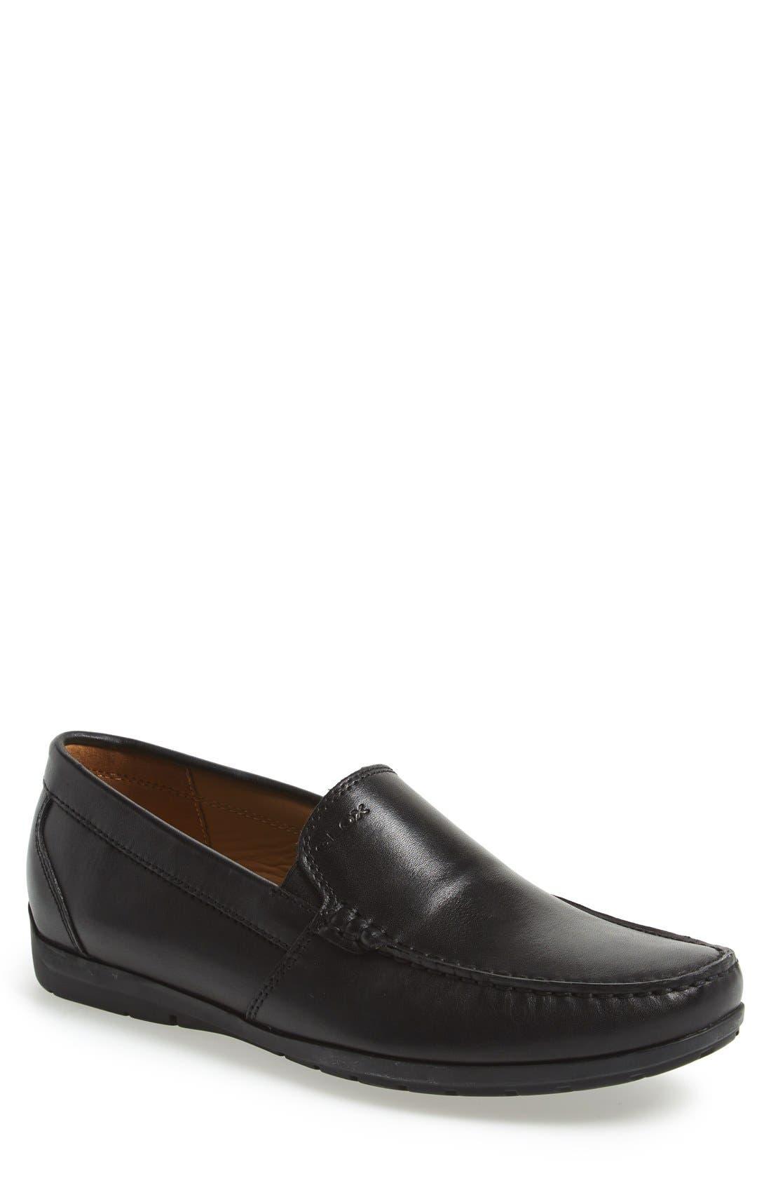 'Simon W2' Venetian Loafer,                             Main thumbnail 1, color,                             BLACK