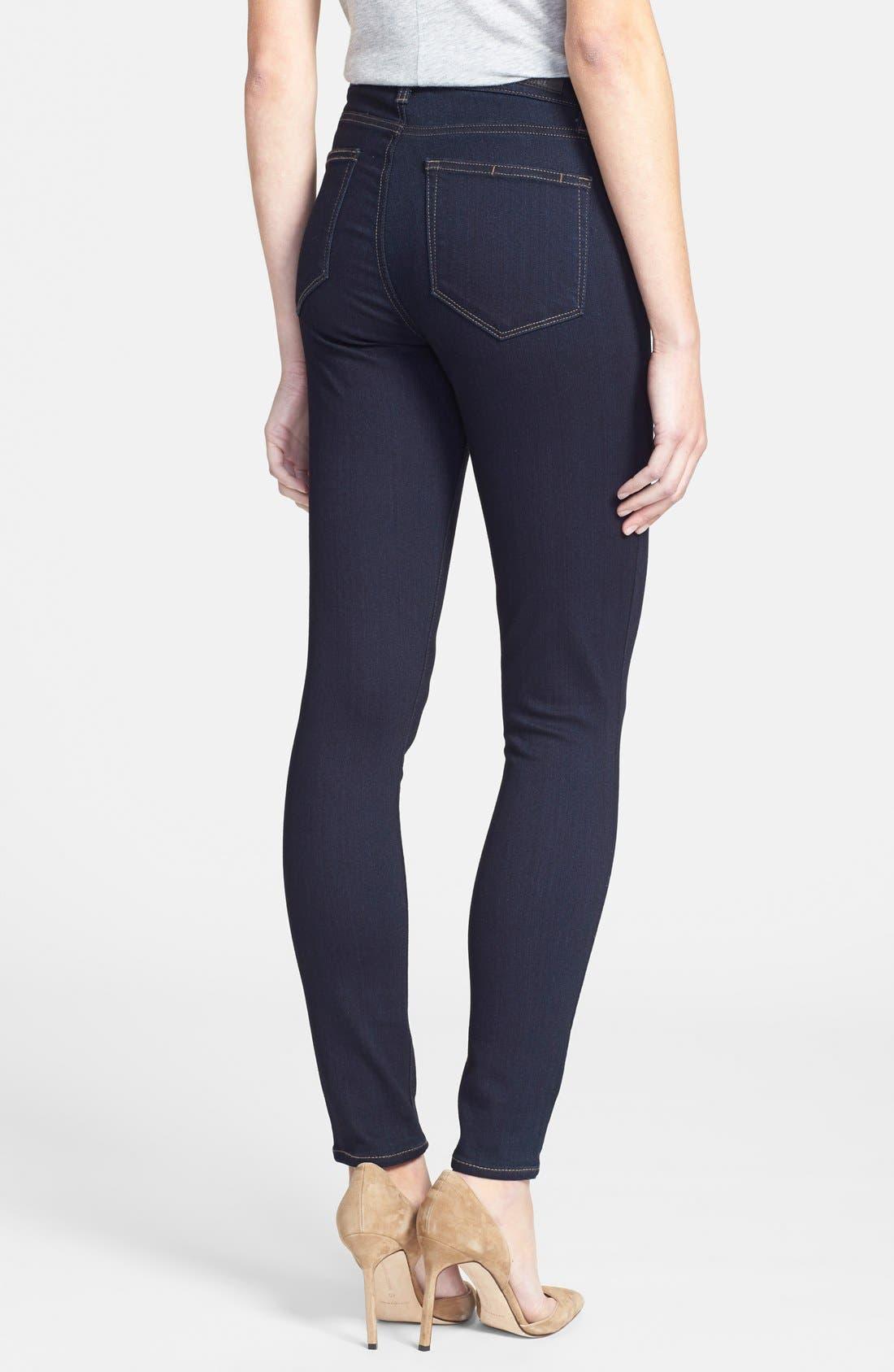 Denim 'Transcend - Hoxton' High Rise Ankle Jeans,                             Alternate thumbnail 2, color,                             001
