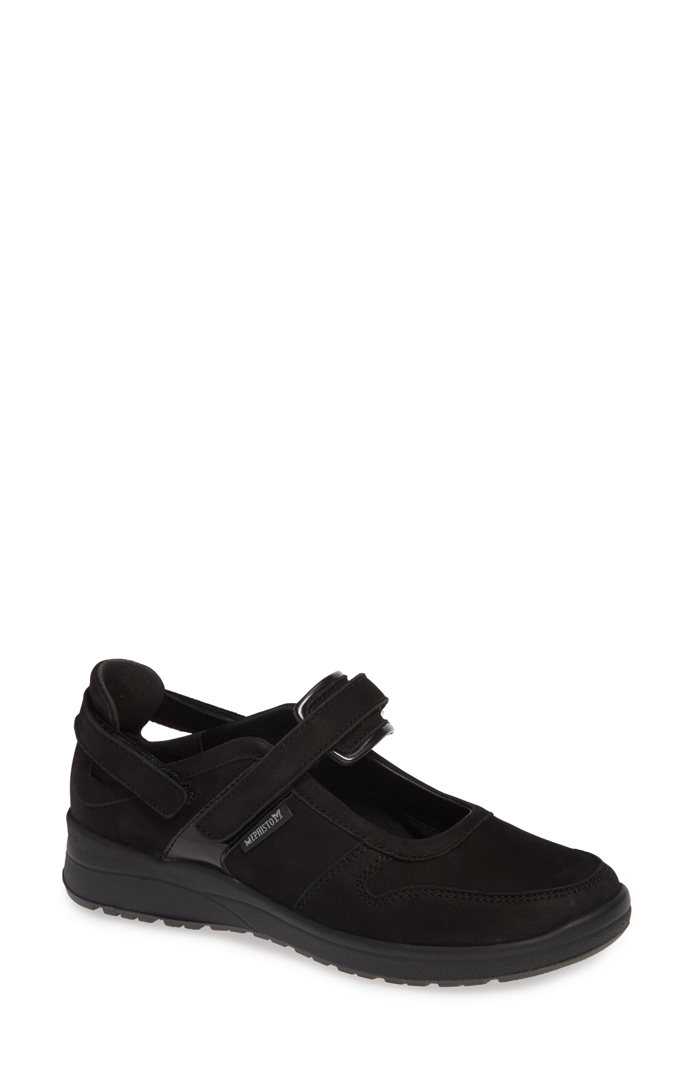 MEPHISTO Rejine Sneaker, Main, color, BLACK FABRIC