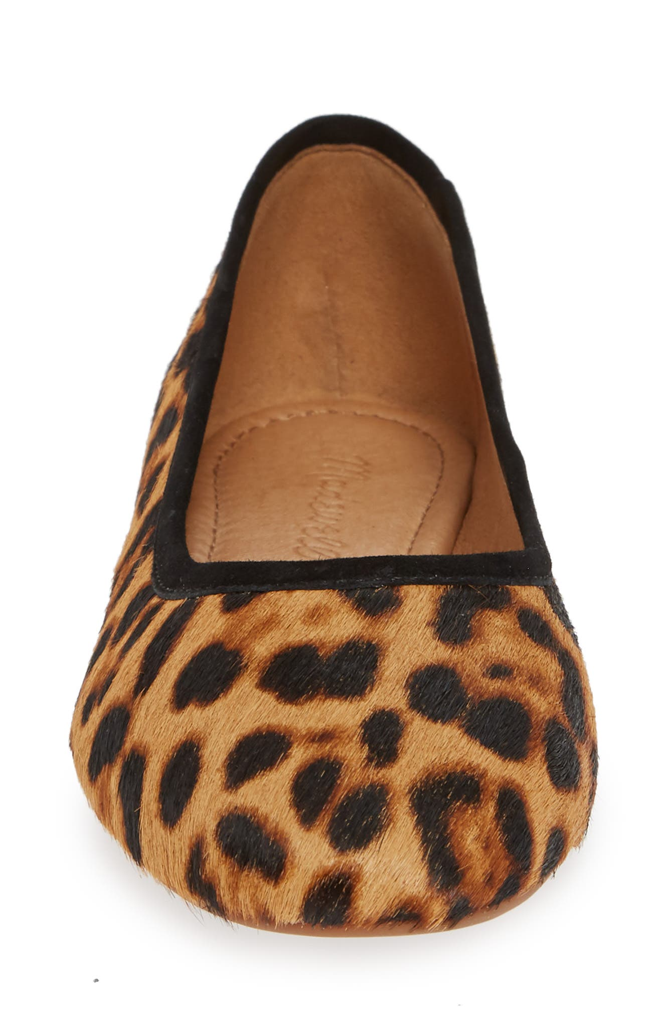 Reid Genuine Calf Hair Ballet Flat,                             Alternate thumbnail 4, color,                             LEOPARD HAIR CALF