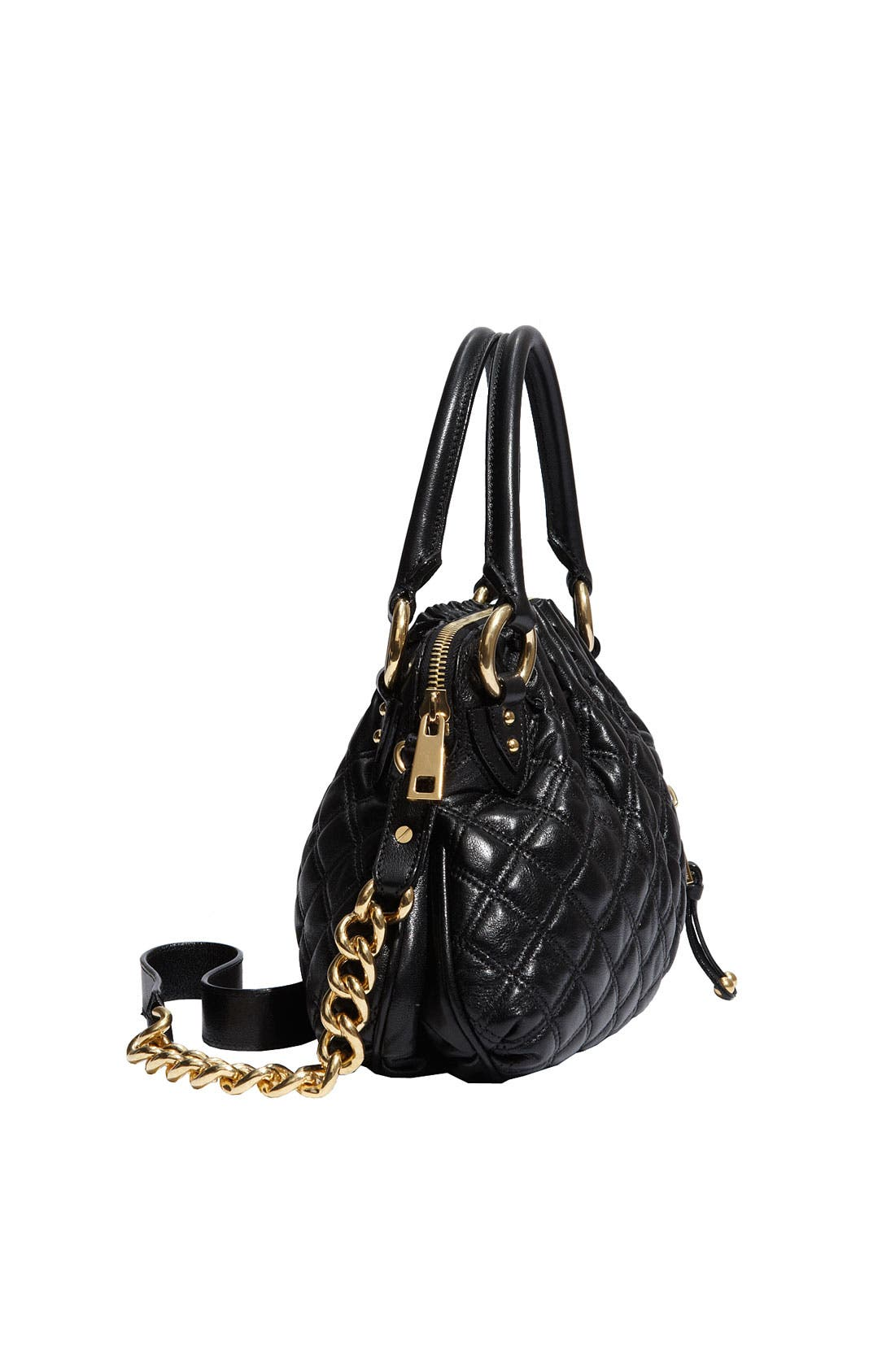 'Cecilia - Small' Quilted Leather Bag,                             Alternate thumbnail 6, color,
