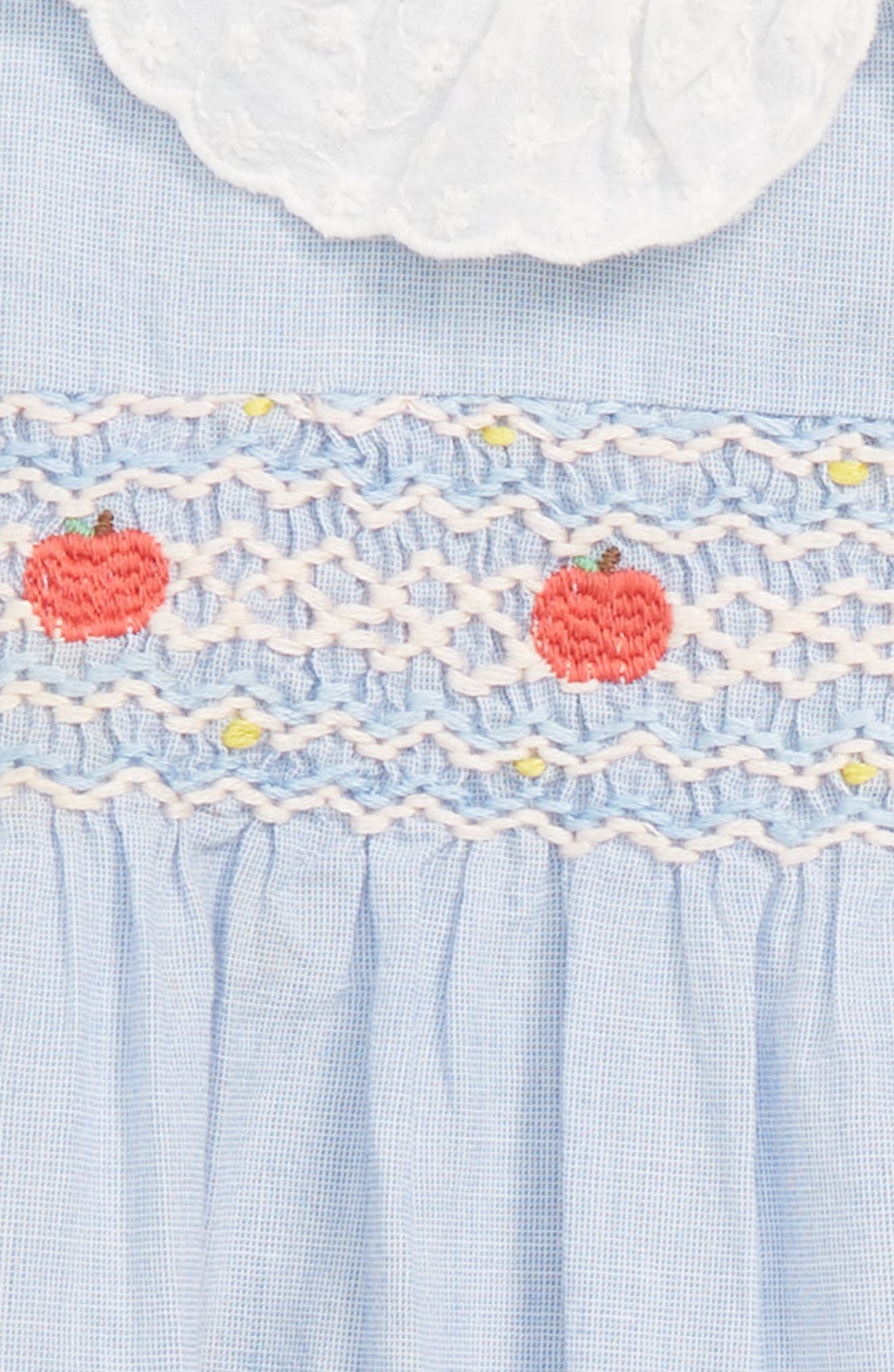 Pretty Collar Smock Dress,                             Alternate thumbnail 2, color,                             CHAMBRAY