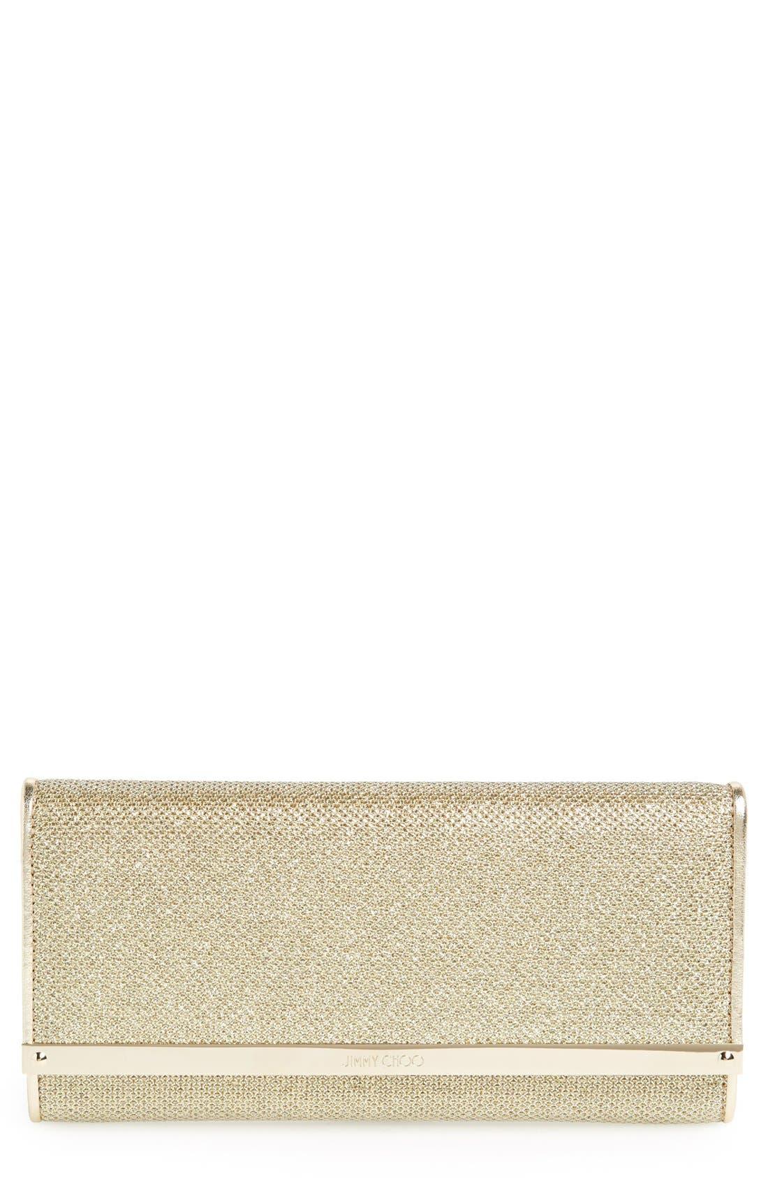 'Milla' Glitter Lamé Wallet on a Chain,                             Main thumbnail 4, color,