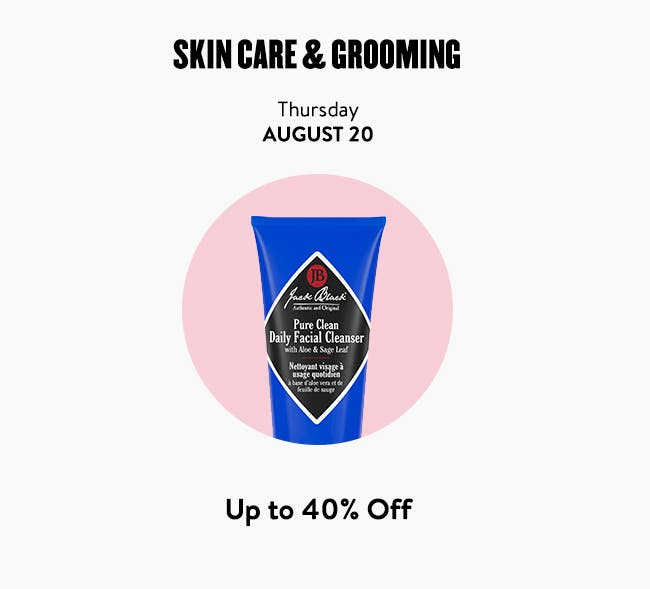 Beauty Daily Deal: skin care, makeup and grooming.