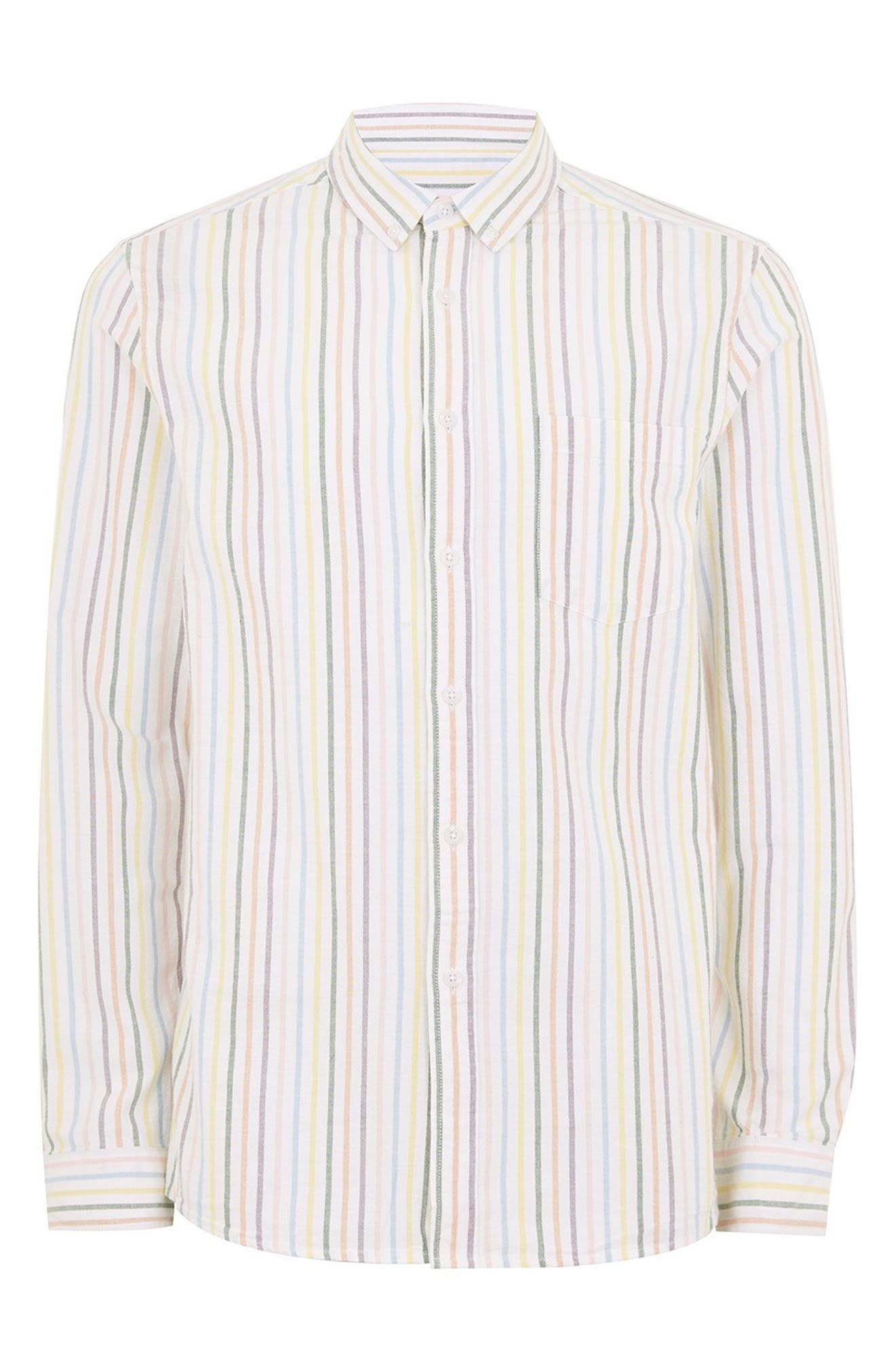 Classic Stripe Shirt,                             Alternate thumbnail 4, color,                             WHITE MULTI