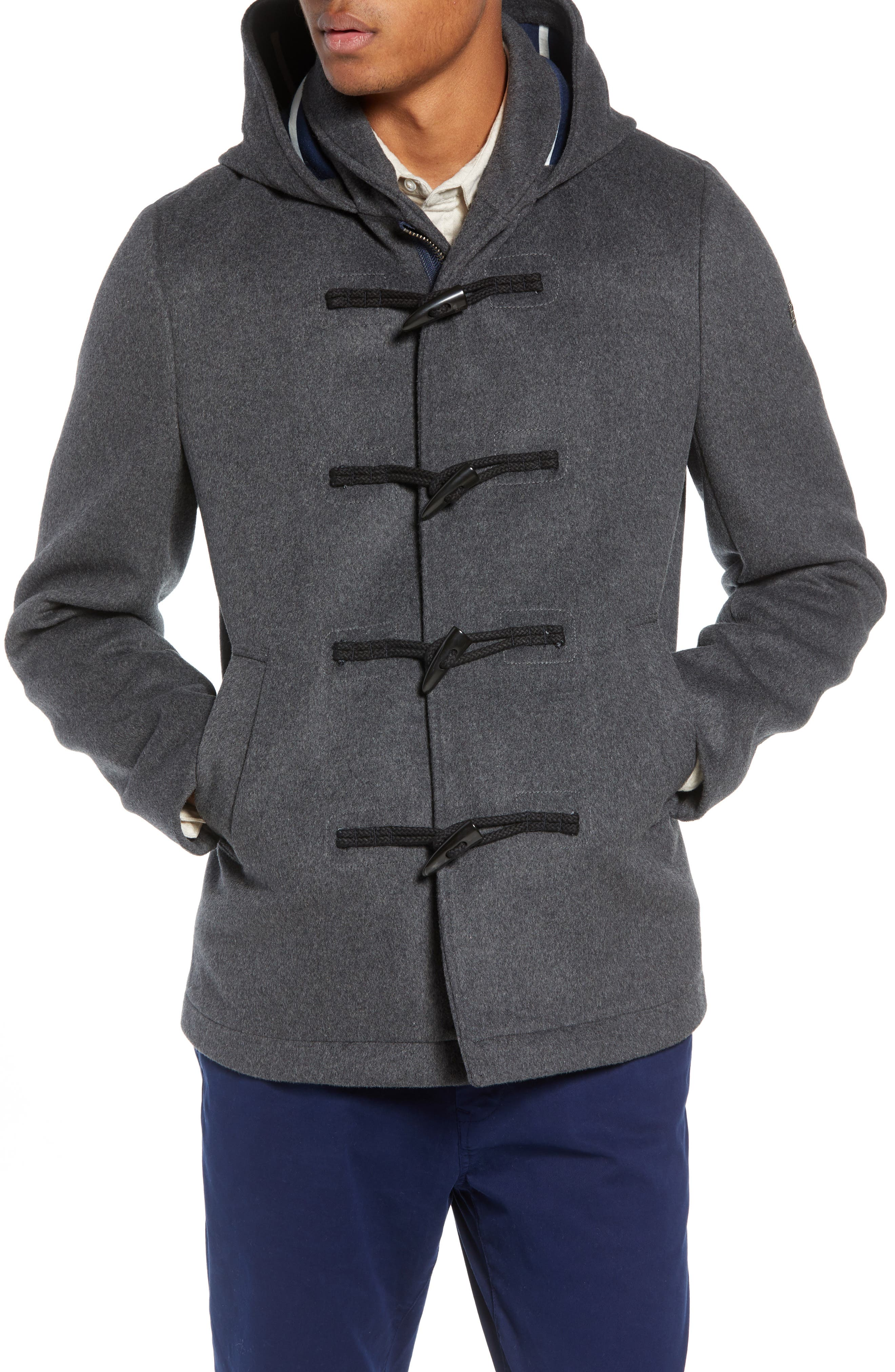 SCOTCH & SODA,                             Wool Blend Duffel Coat,                             Alternate thumbnail 4, color,                             030