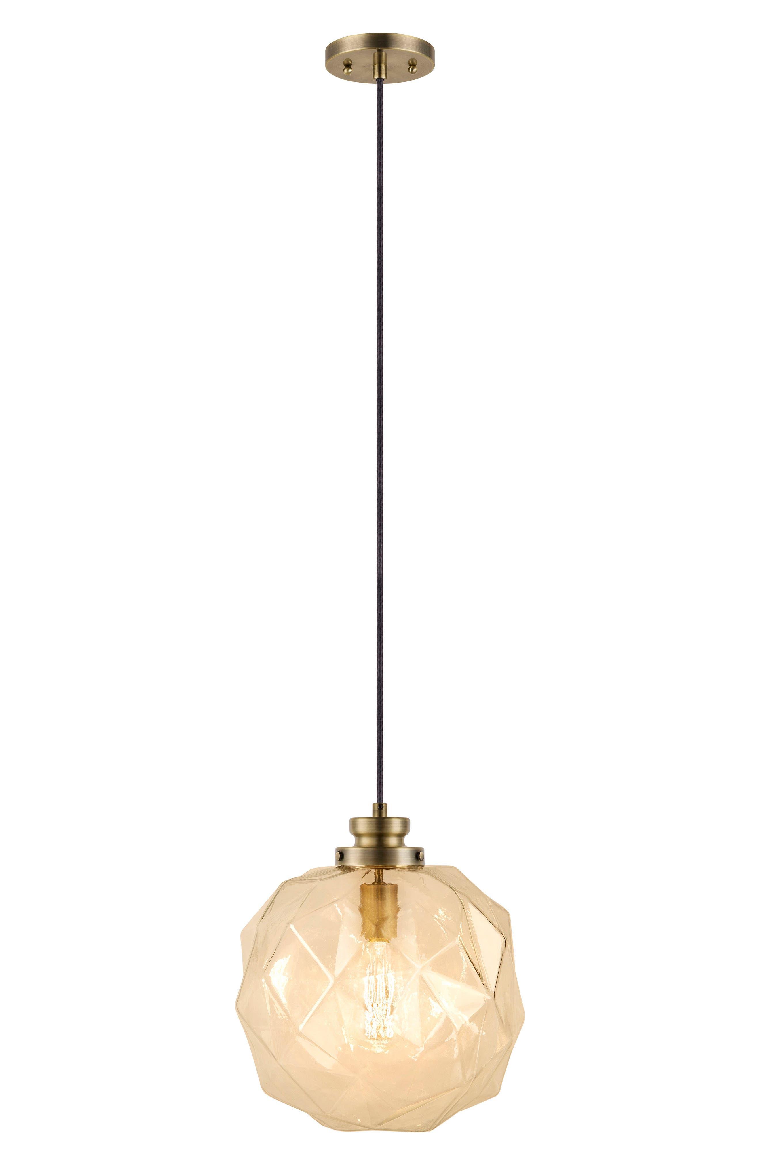 JAlexander Rockford Faceted Pendant Light,                         Main,                         color, 710
