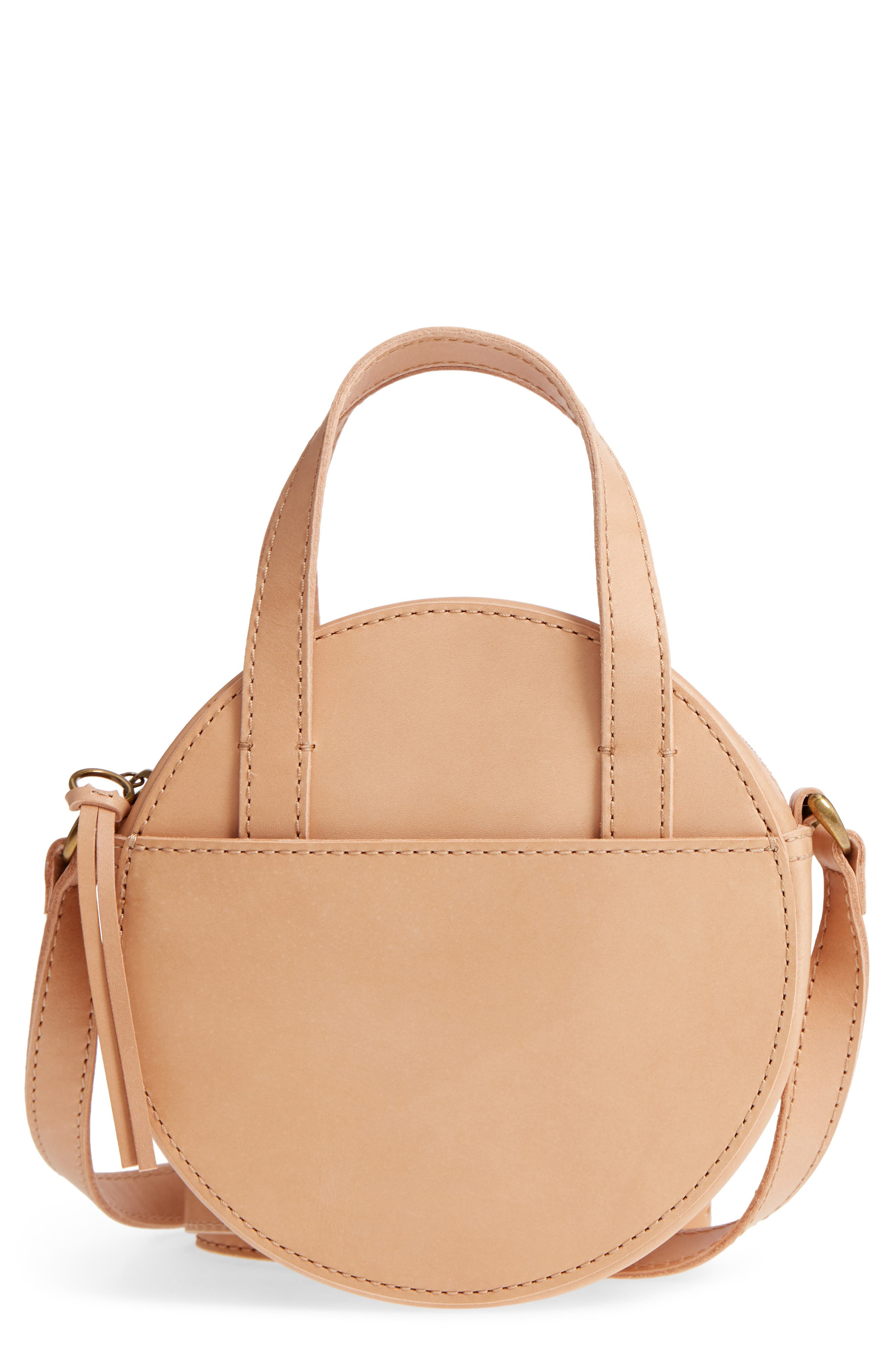 MADEWELL,                             Juno Circle Leather Crossbody Bag,                             Main thumbnail 1, color,                             250