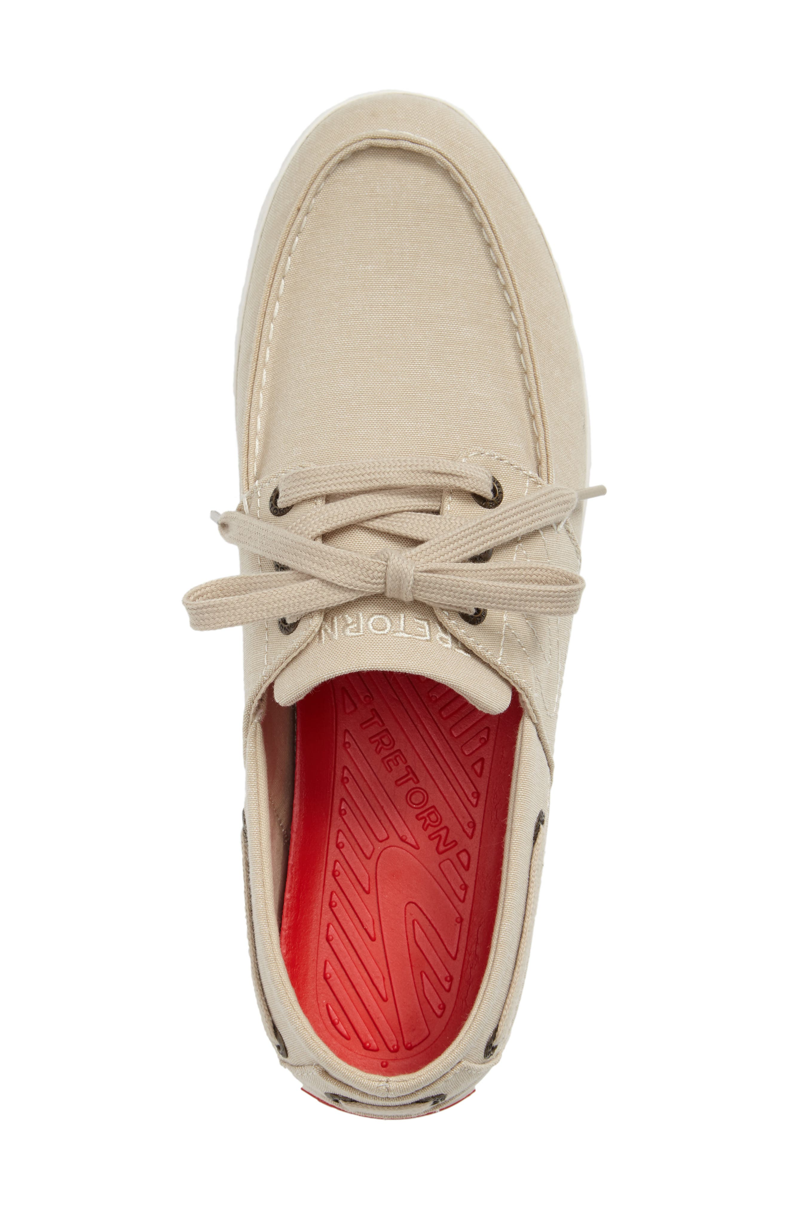 Motto Boat Shoe,                             Alternate thumbnail 3, color,                             OYSTER CANVAS