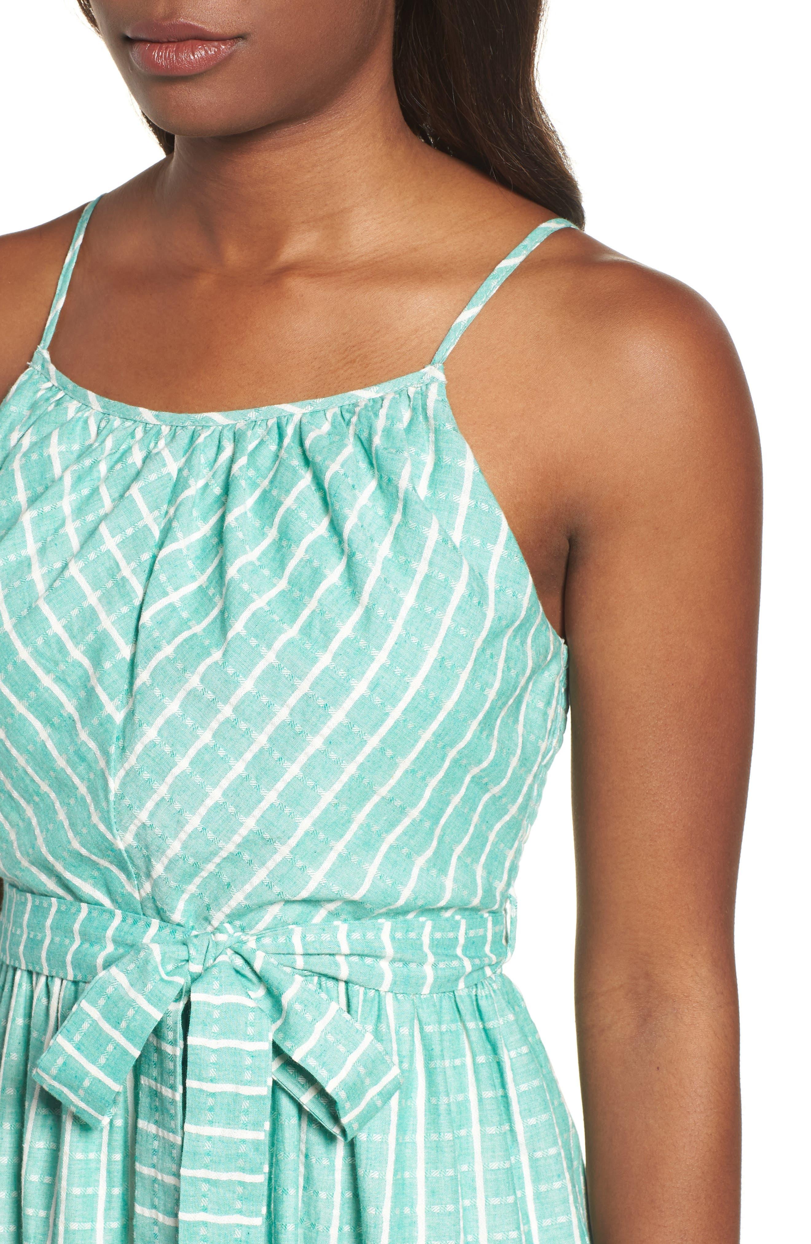 Tie Waist Cotton Maxi Dress,                             Alternate thumbnail 14, color,