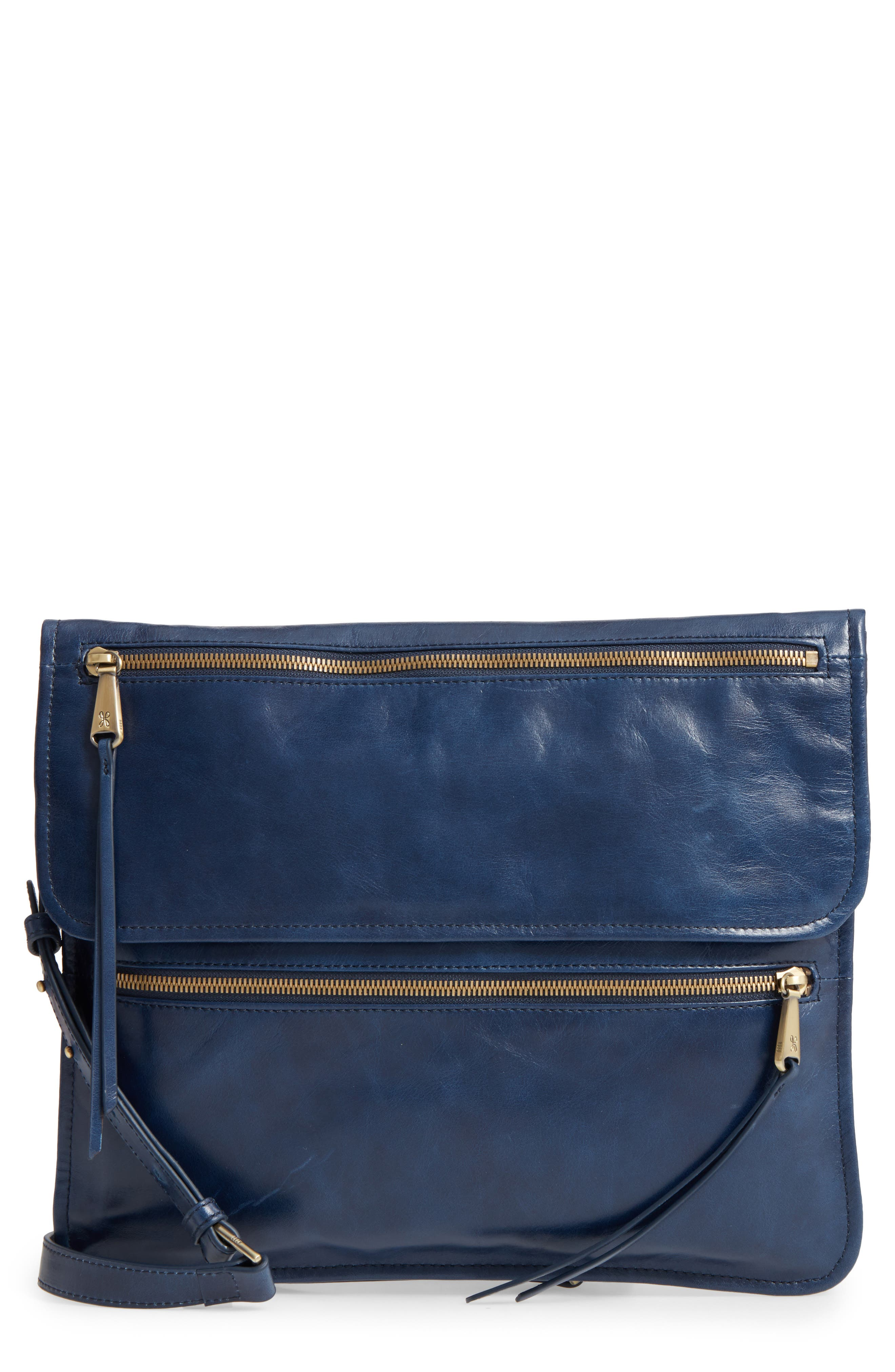 Vista Calfskin Leather Messenger Bag,                             Main thumbnail 4, color,