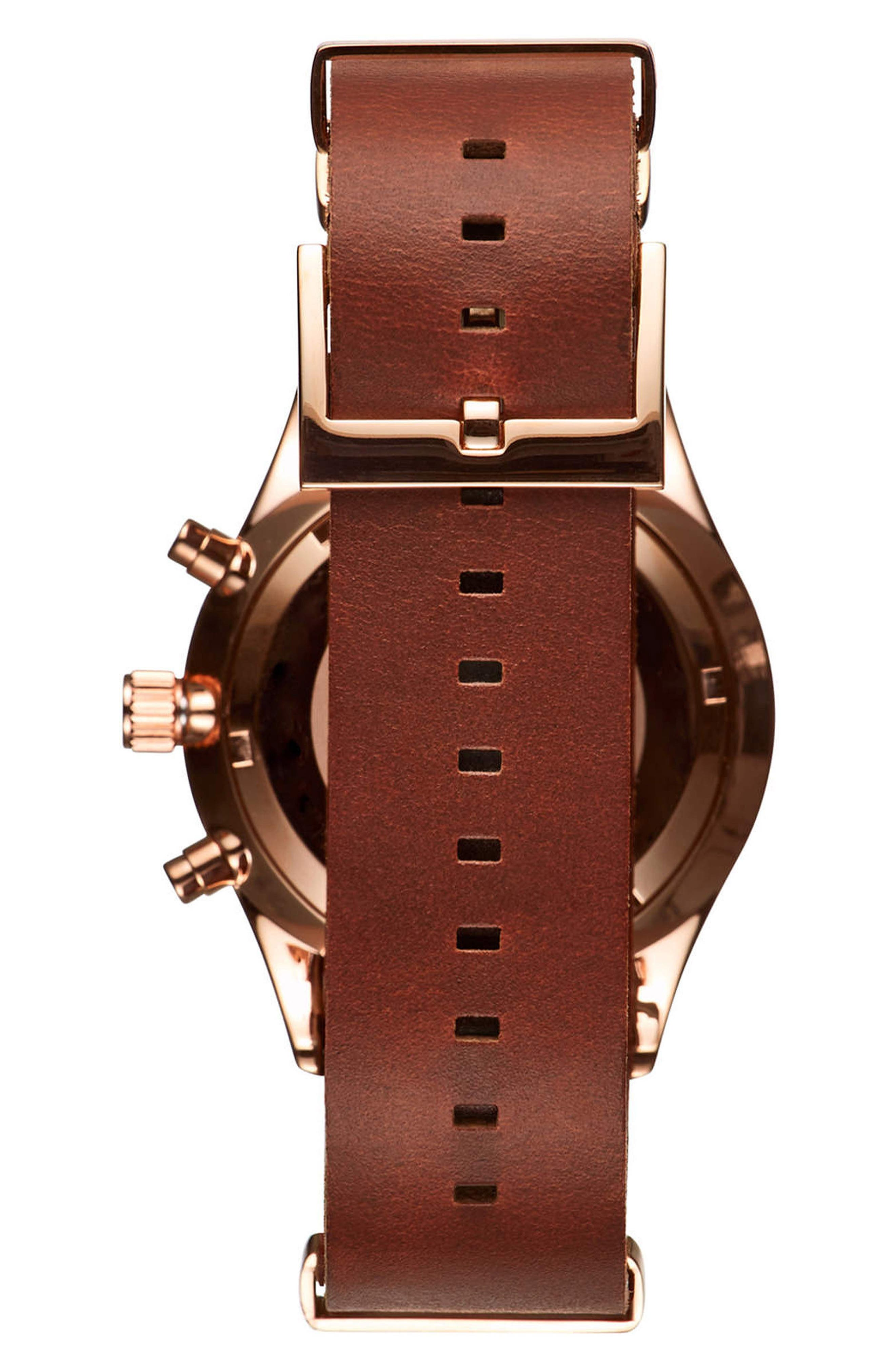 Voyager Chronograph Leather Strap Watch, 42mm,                             Alternate thumbnail 2, color,                             200