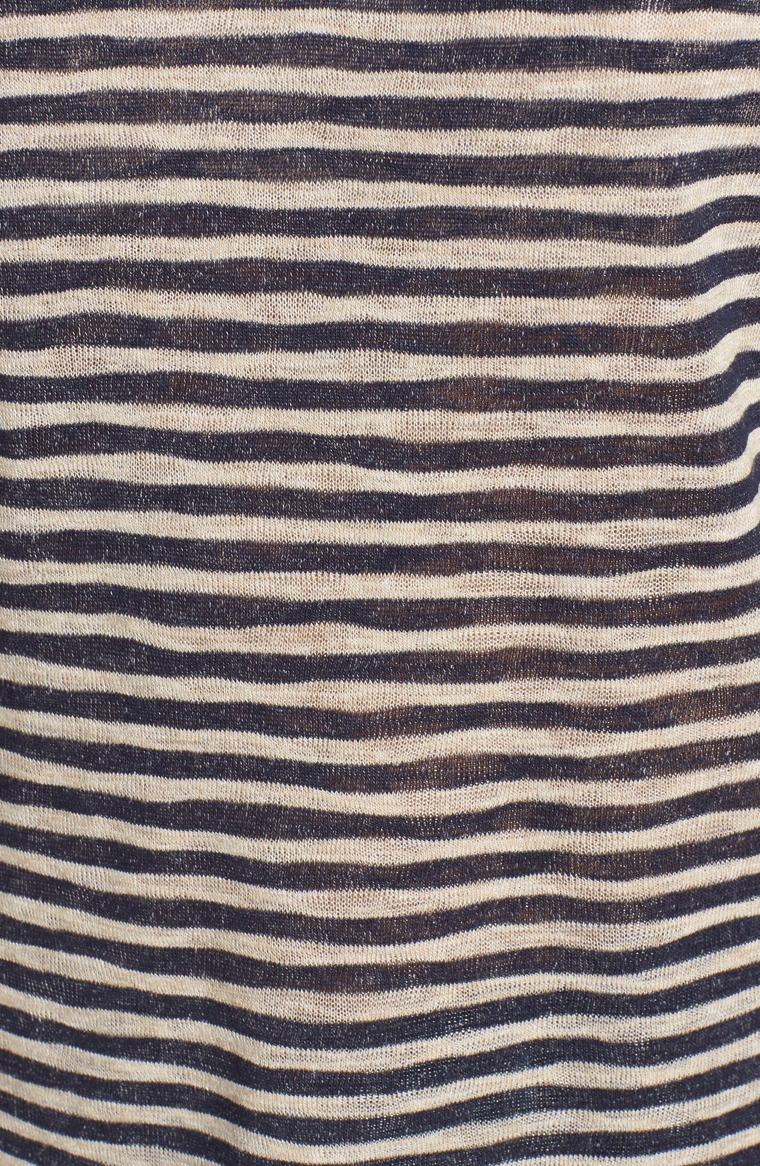 Suzie Stripe Tee,                             Alternate thumbnail 6, color,                             NAVY/ OATMEAL