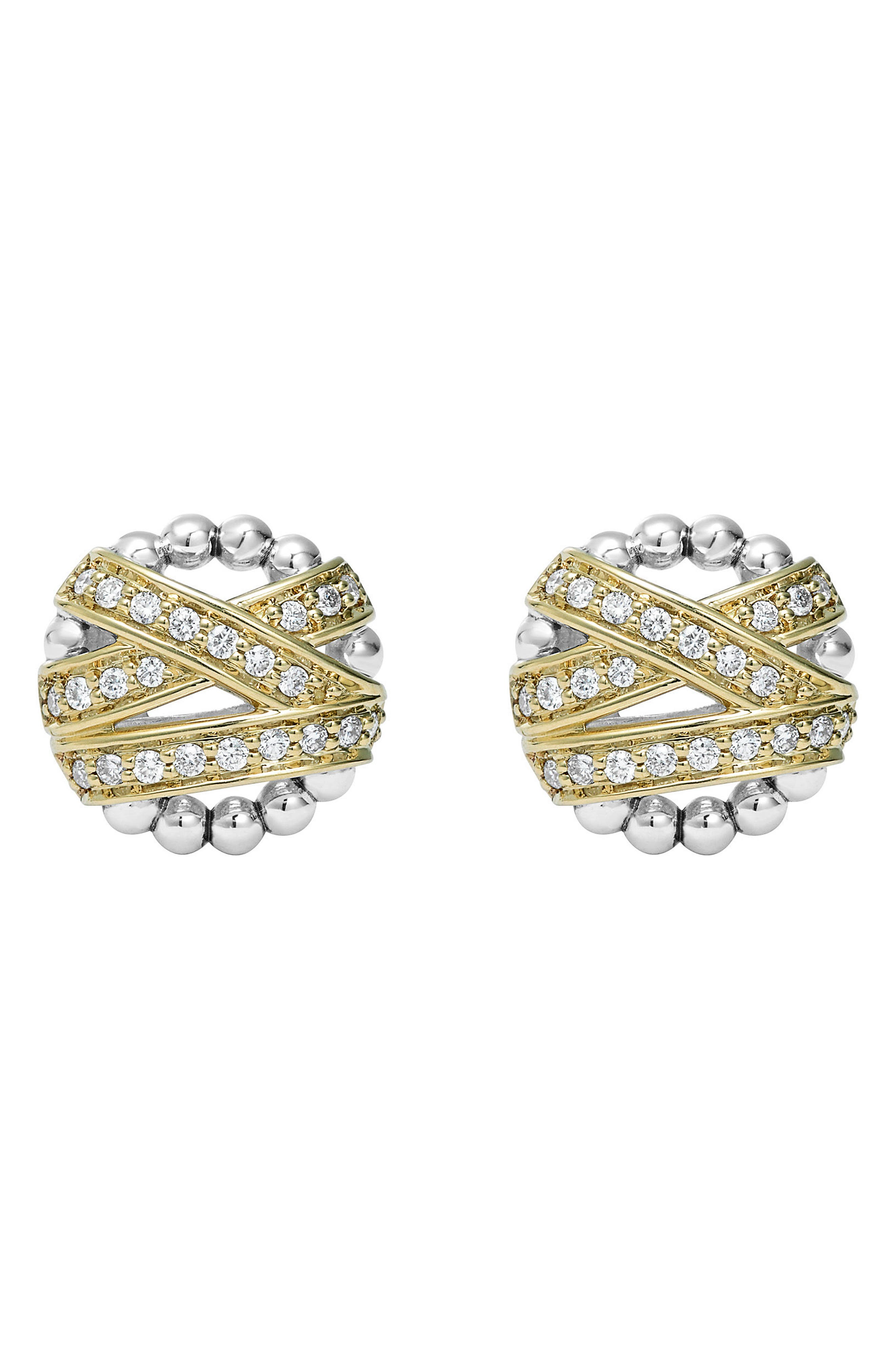 'Diamonds & Caviar' Diamond Stud Earrings,                             Alternate thumbnail 2, color,                             710