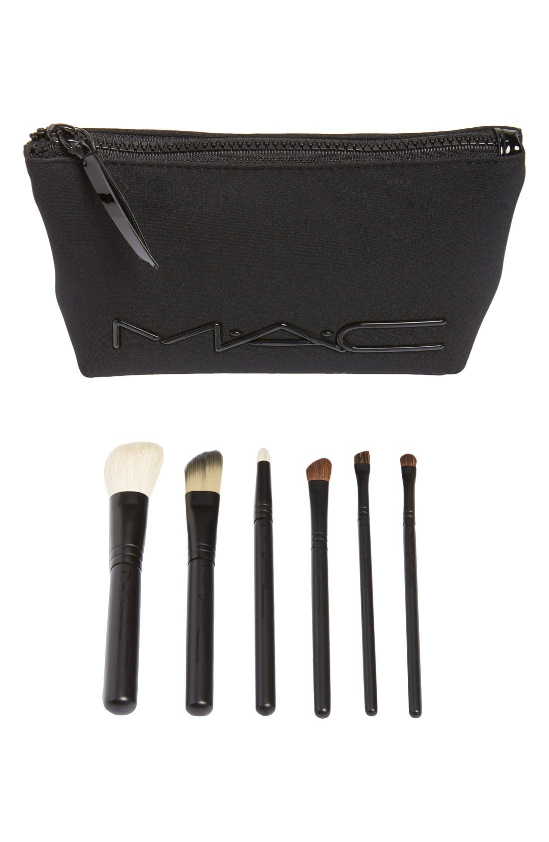 M·A·C 'Look in a Box - Advanced' Travel Brush Kit,                             Main thumbnail 1, color,                             000