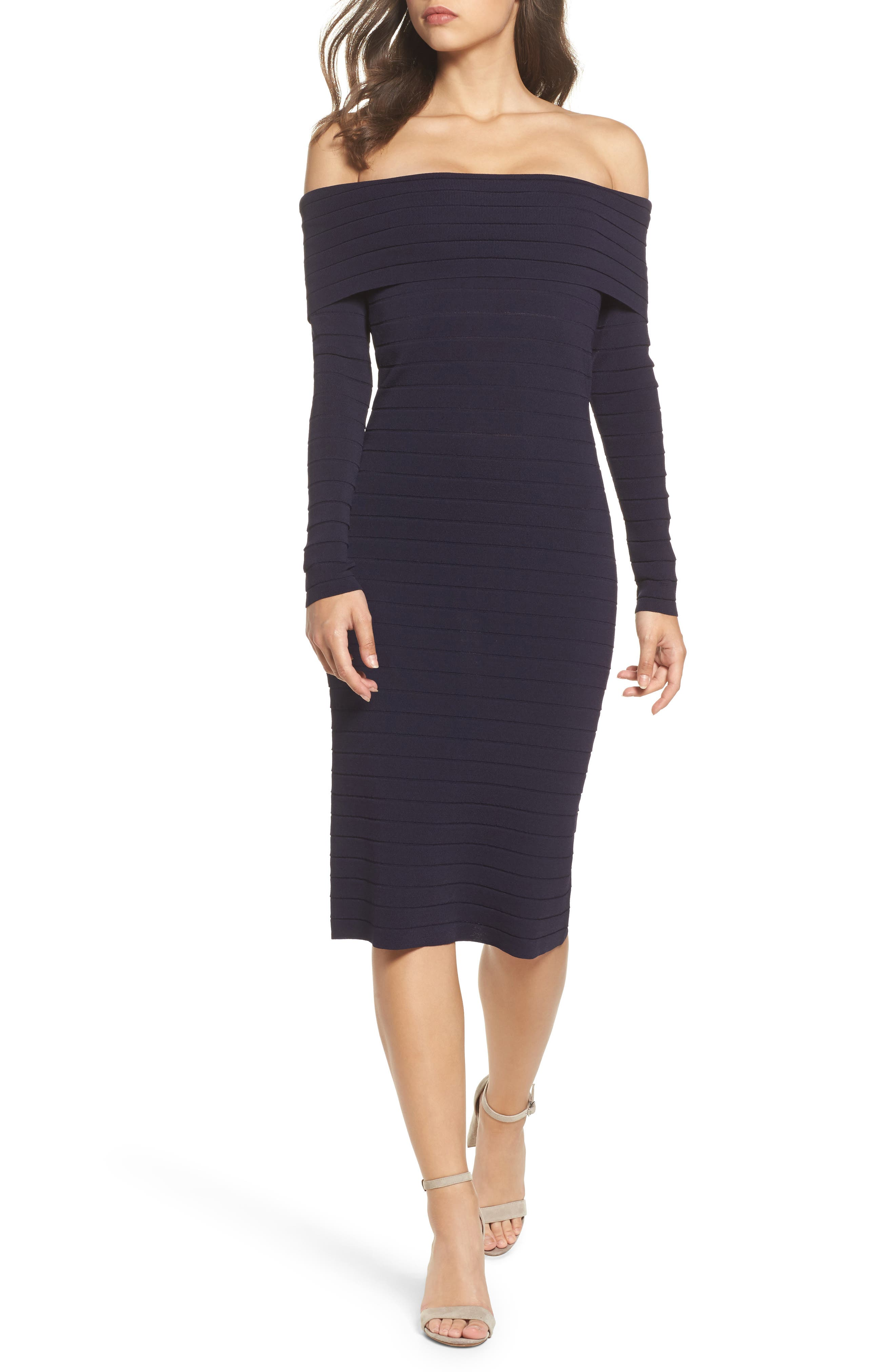 Bandage Midi Dress,                             Main thumbnail 3, color,