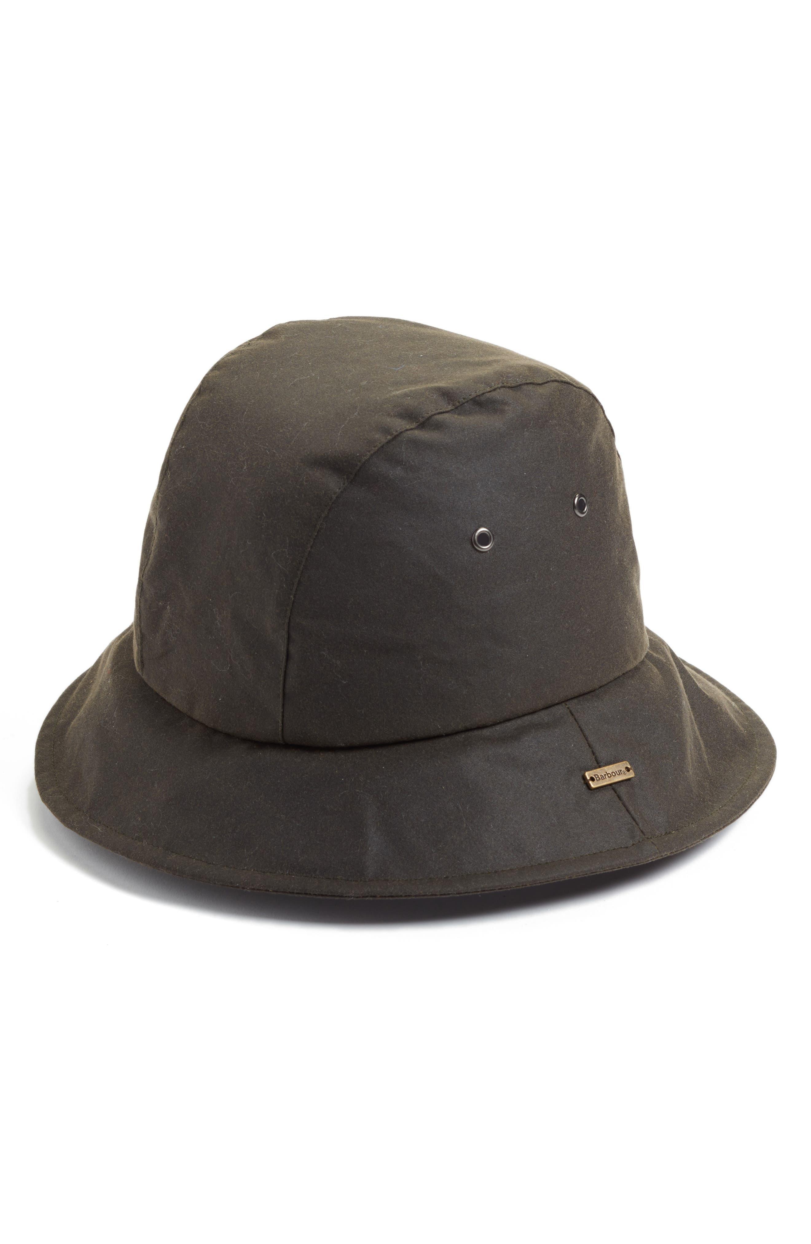 BARBOUR,                             Barbou Sou Wester Bucket Hat,                             Main thumbnail 1, color,                             340
