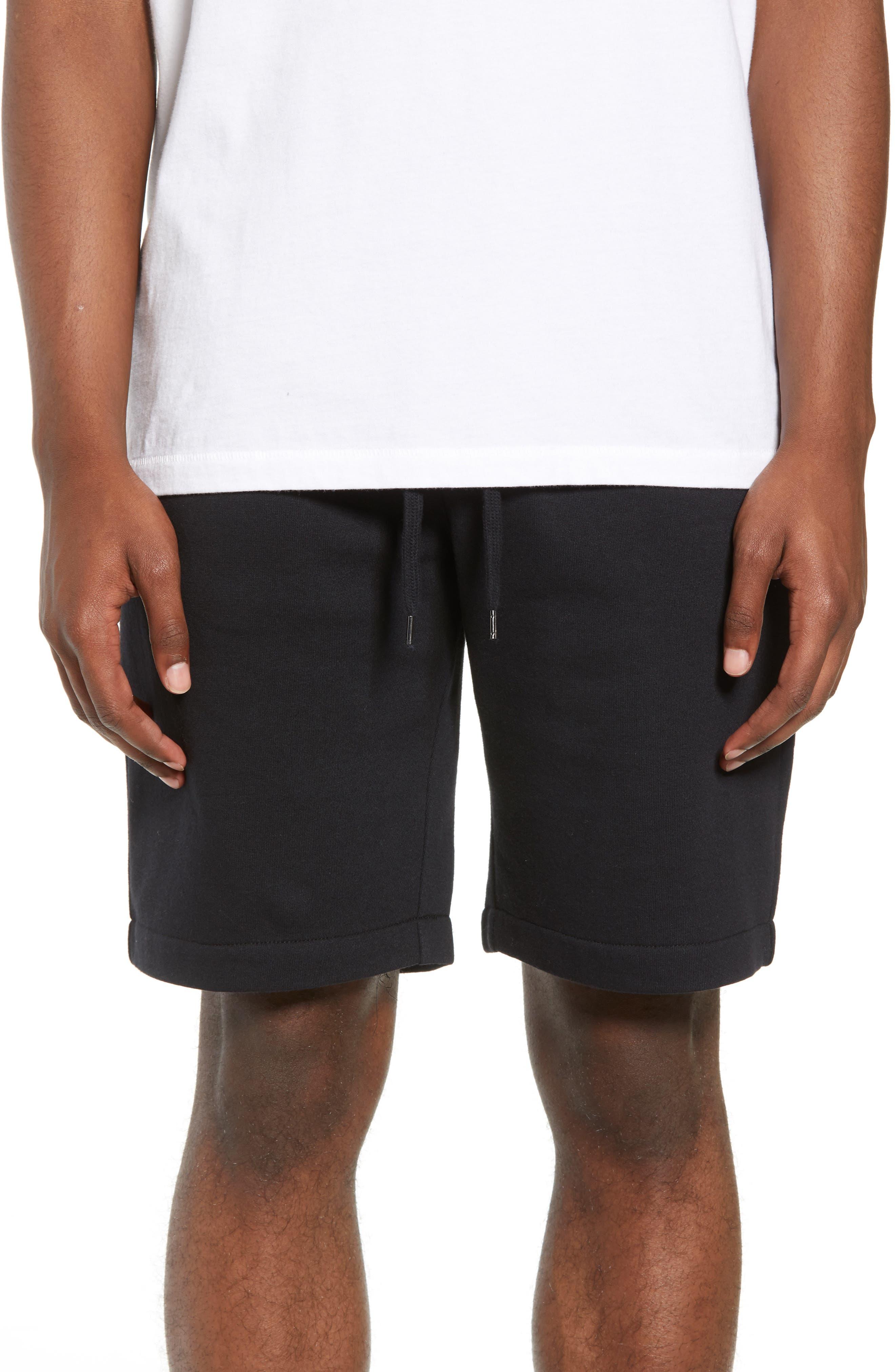 THE RAIL,                             Fleece Shorts,                             Main thumbnail 1, color,                             001