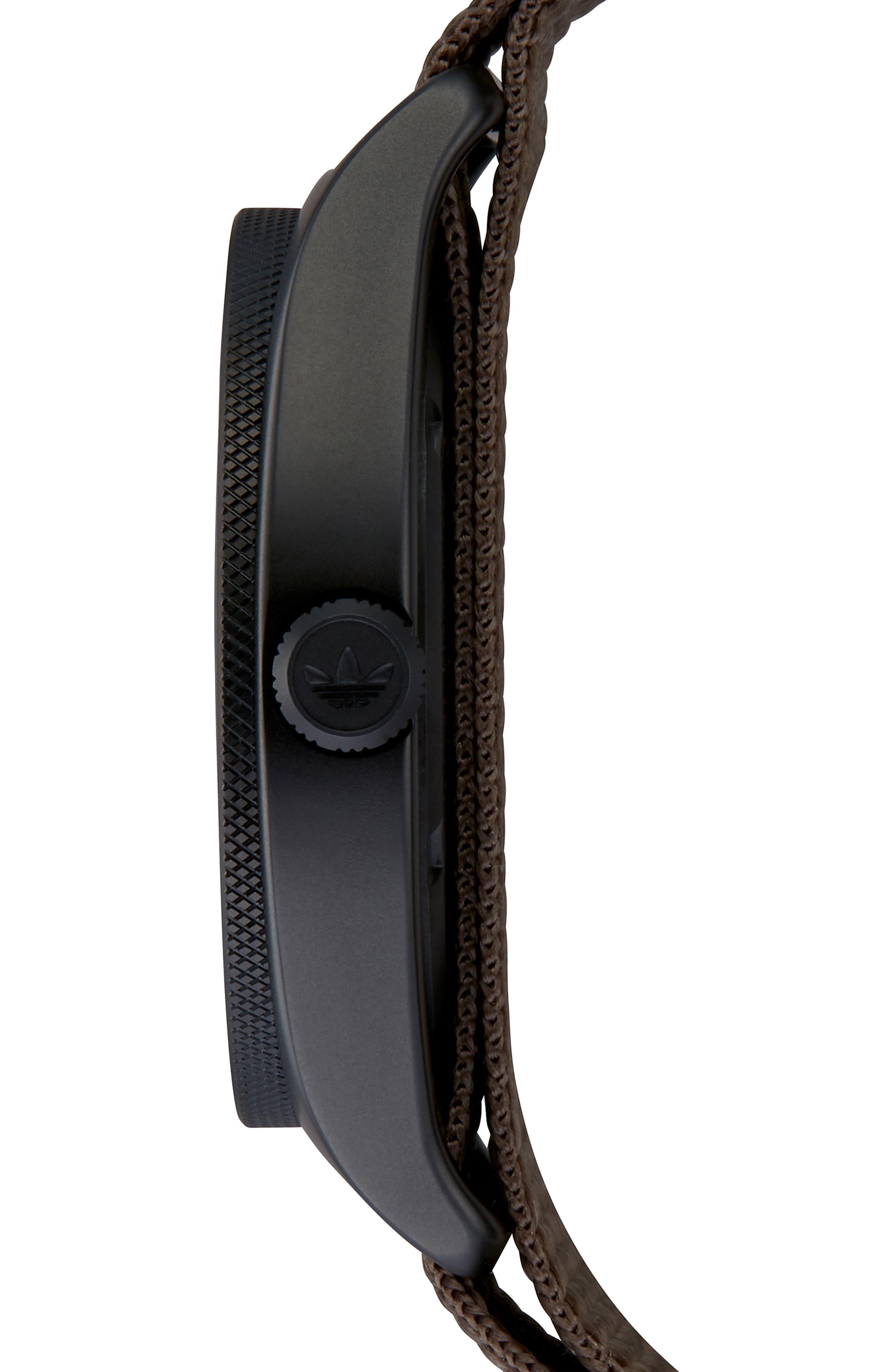Process Nylon Strap Watch, 40mm,                             Alternate thumbnail 3, color,                             BROWN/ BRANCH/ BLACK