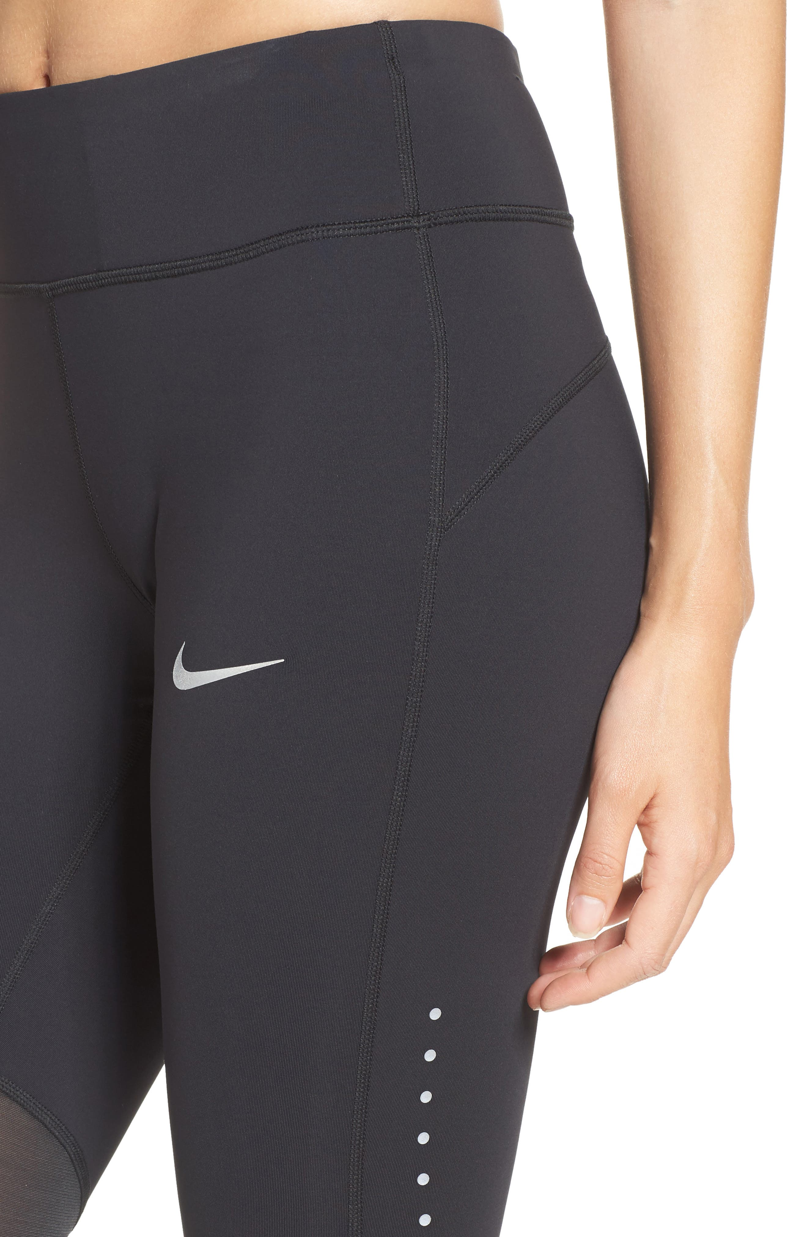 Power Epic Luxe Running Tights,                             Alternate thumbnail 4, color,                             010