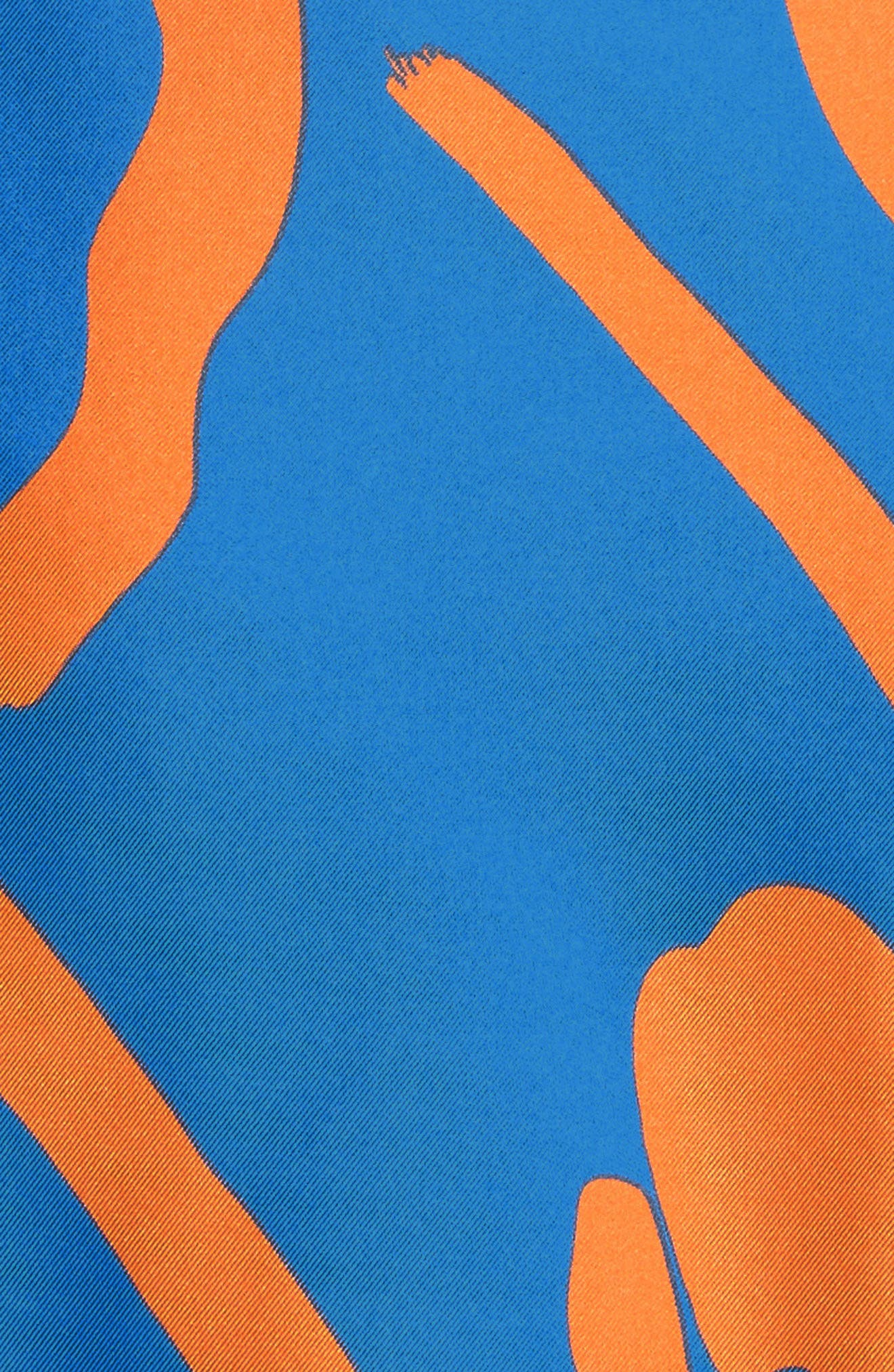Tie Front Faux Wrap Silk Dress,                             Alternate thumbnail 5, color,                             494