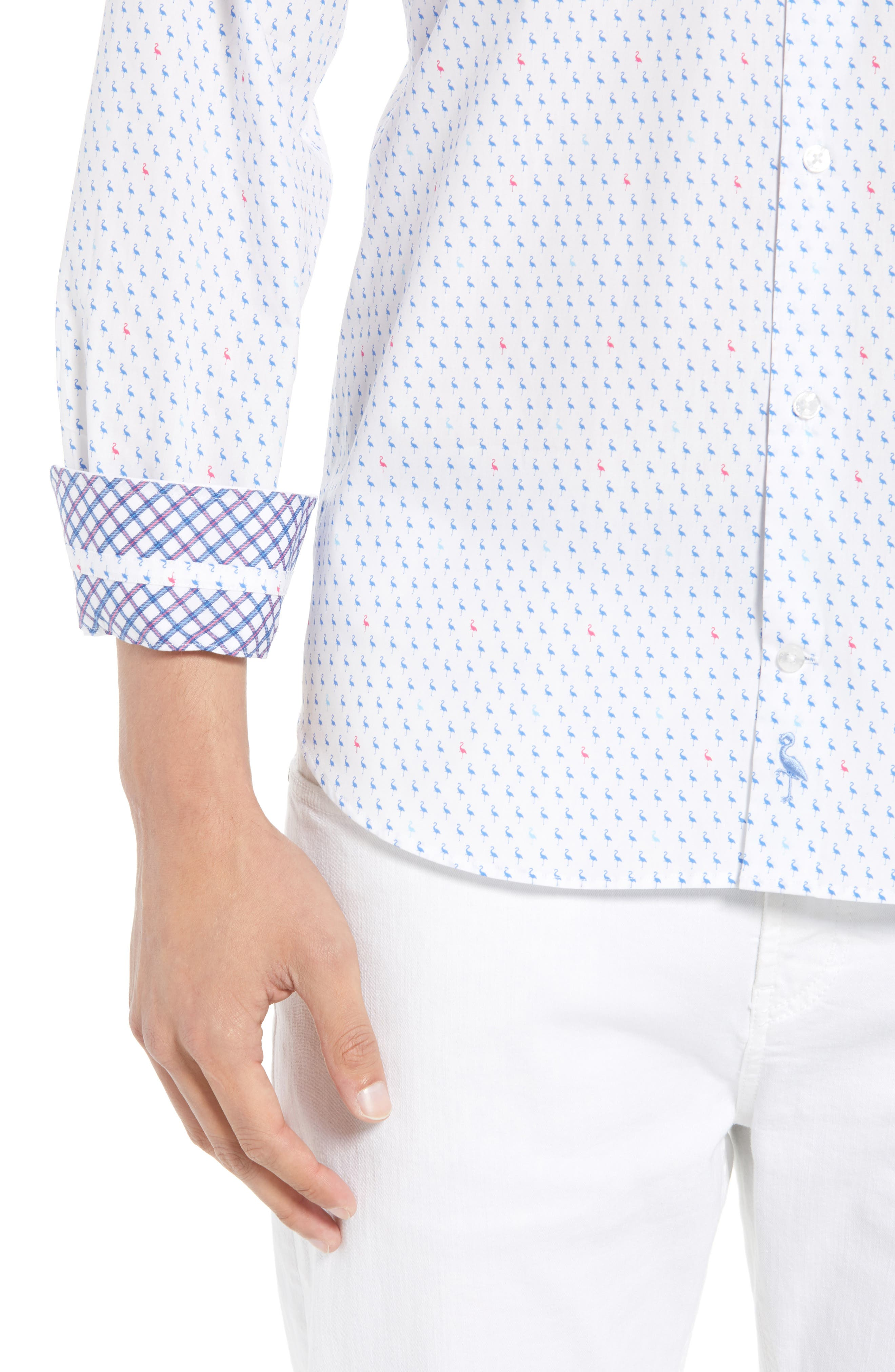 Auden Regular Fit Print Sport Shirt,                             Alternate thumbnail 4, color,                             490