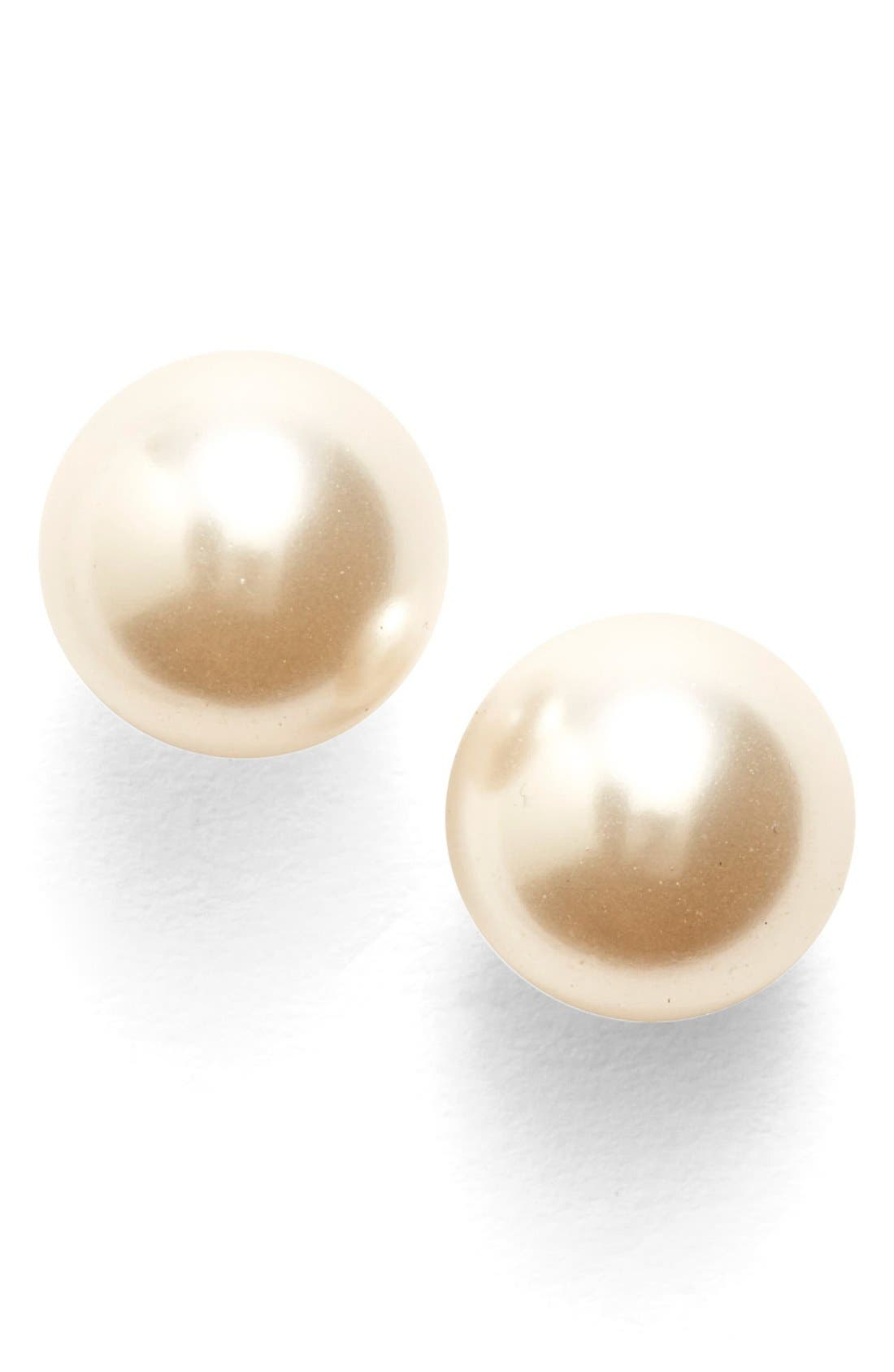 c7d1650c2 UPC 664293345264 product image for Women's Nadri Faux Pearl Stud Earrings -  Rhodium | upcitemdb.