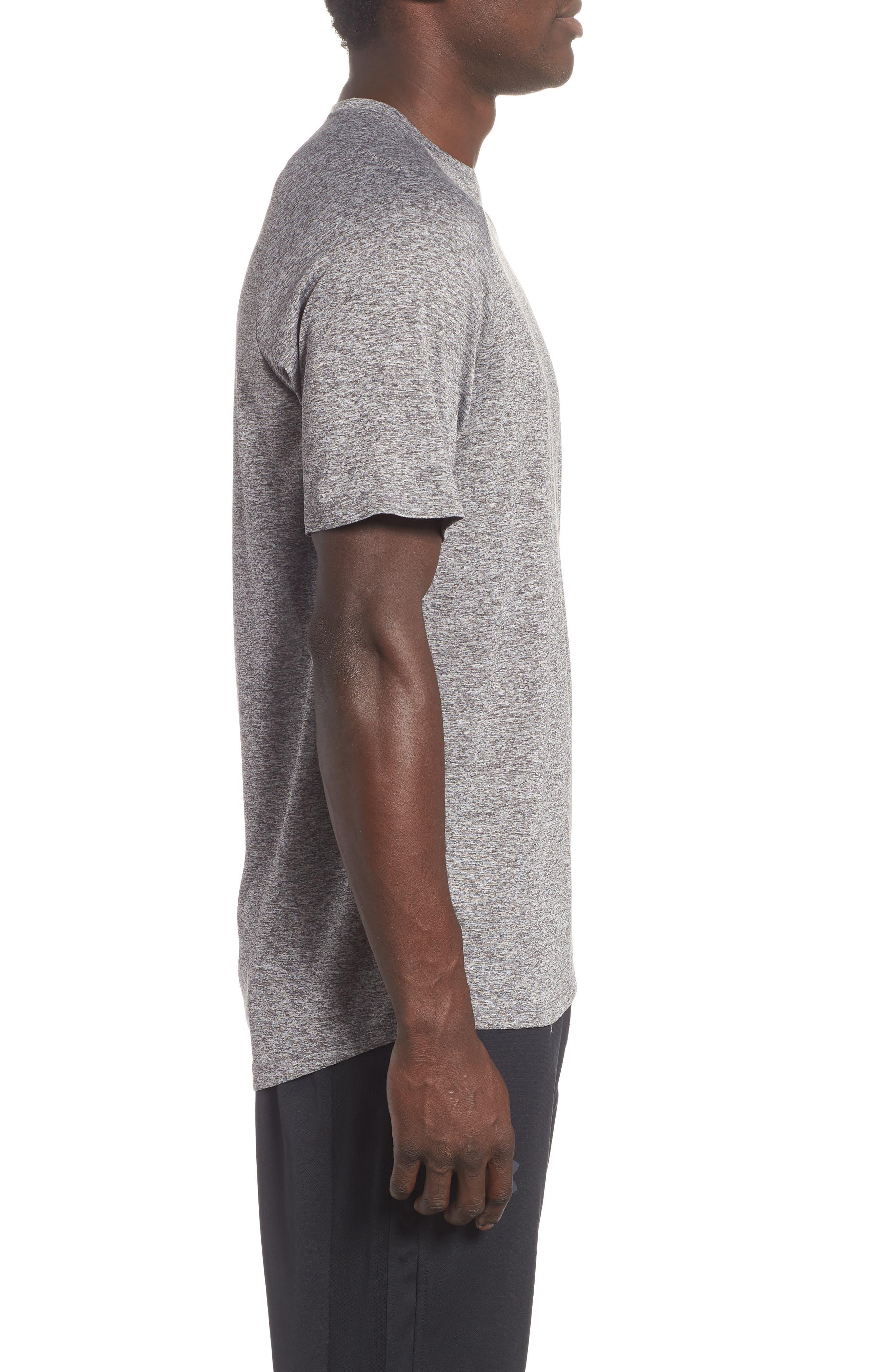 UA Tech<sup>™</sup> T-Shirt,                             Alternate thumbnail 3, color,                             CHARCOAL LIGHT HEATHER