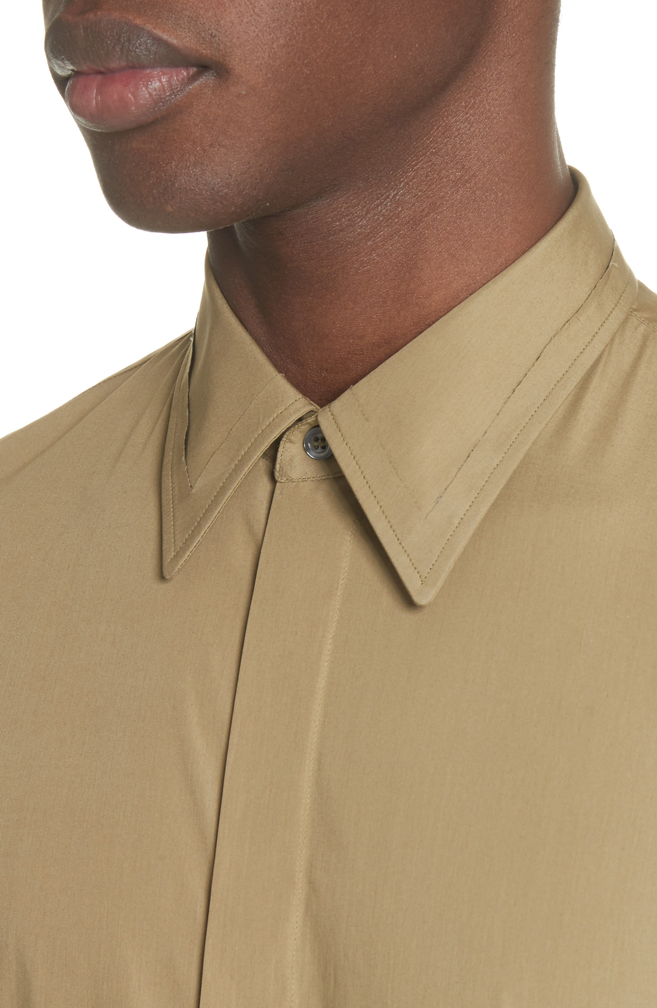 Poplin Short Sleeve Woven Shirt,                             Alternate thumbnail 4, color,