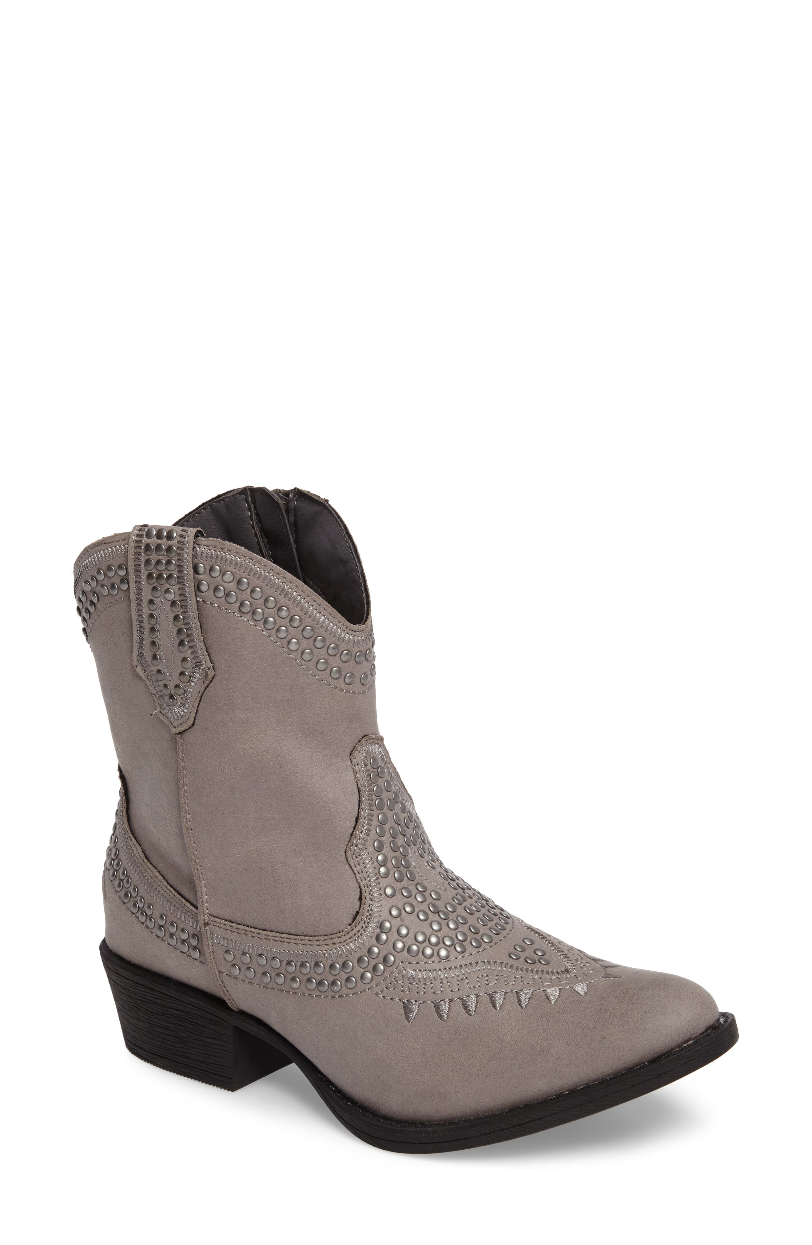 Amour Embellished Western Bootie,                             Main thumbnail 1, color,                             023