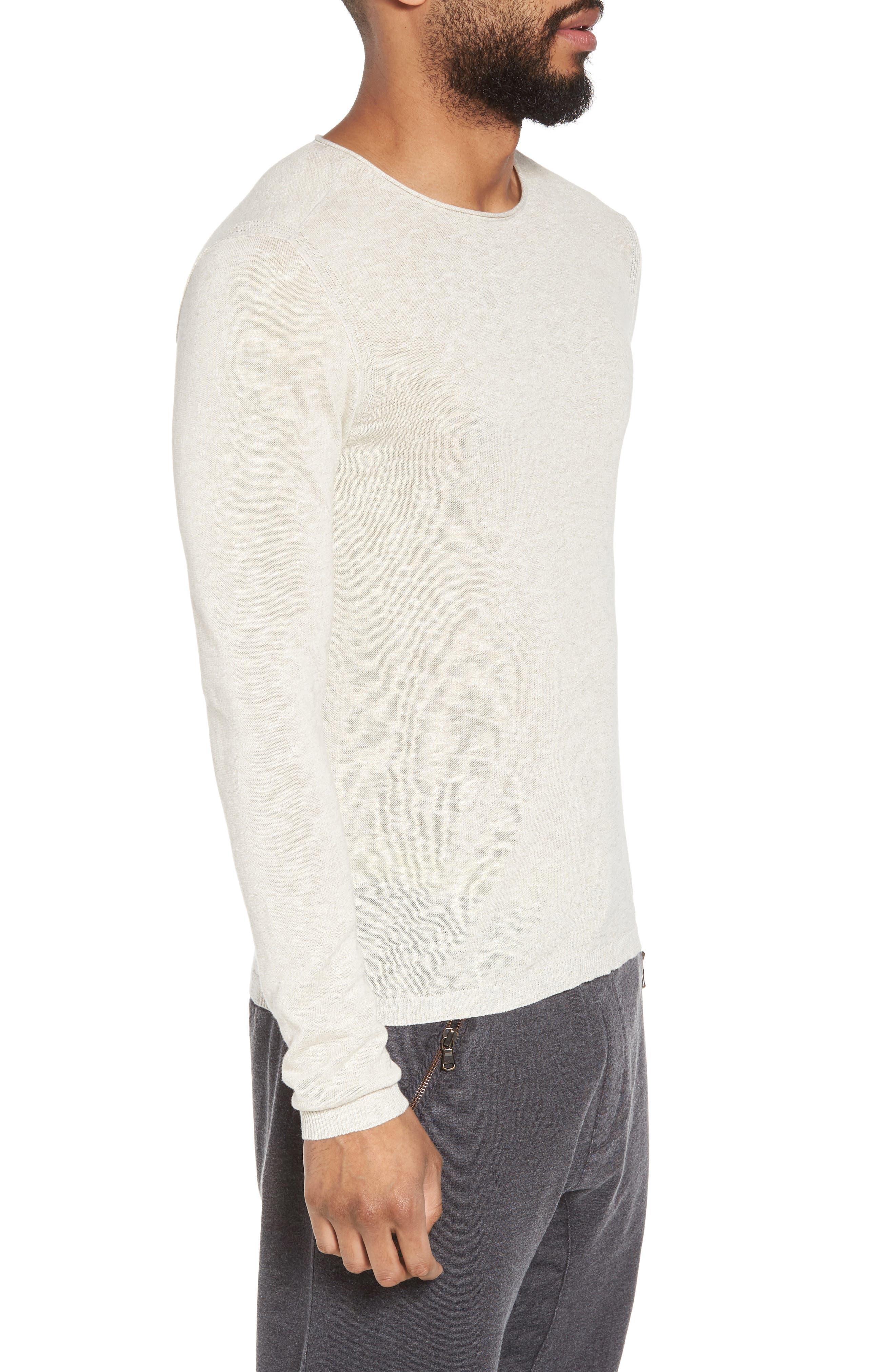 Slim Fit Cotton Blend Sweater,                             Alternate thumbnail 3, color,                             072