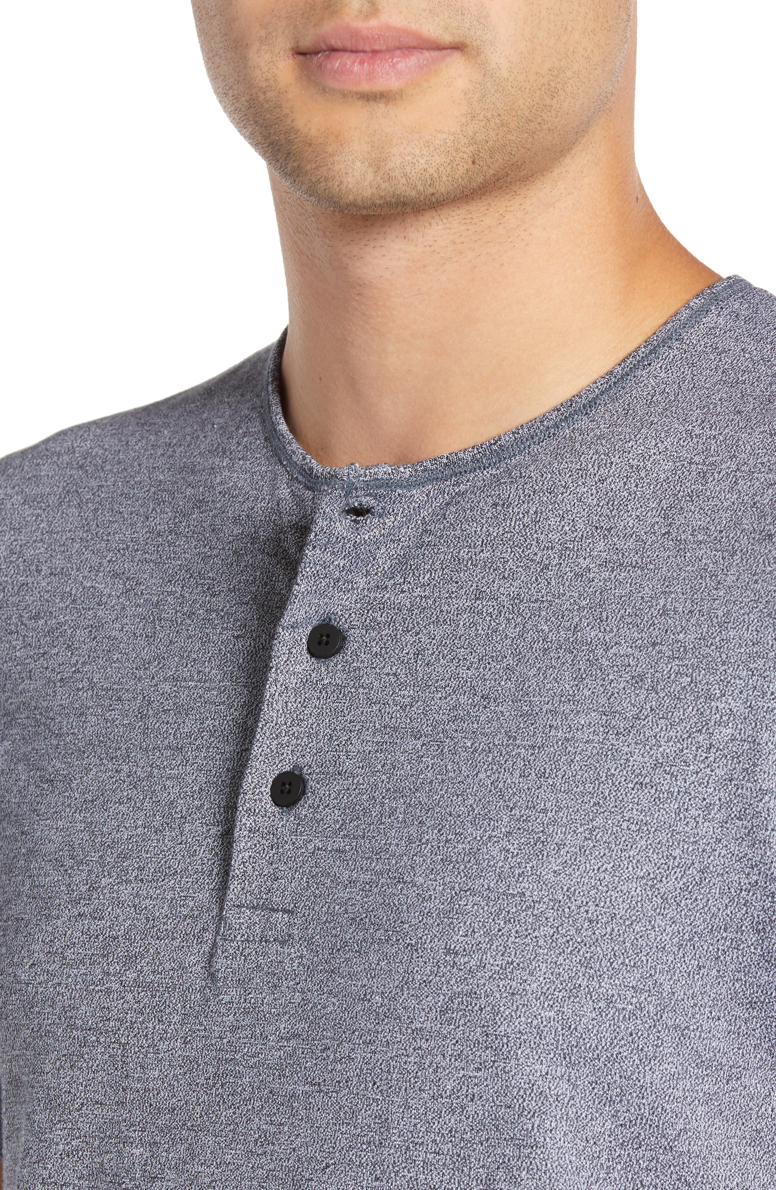 WINGS + HORNS,                             Marled Henley T-Shirt,                             Alternate thumbnail 4, color,                             014