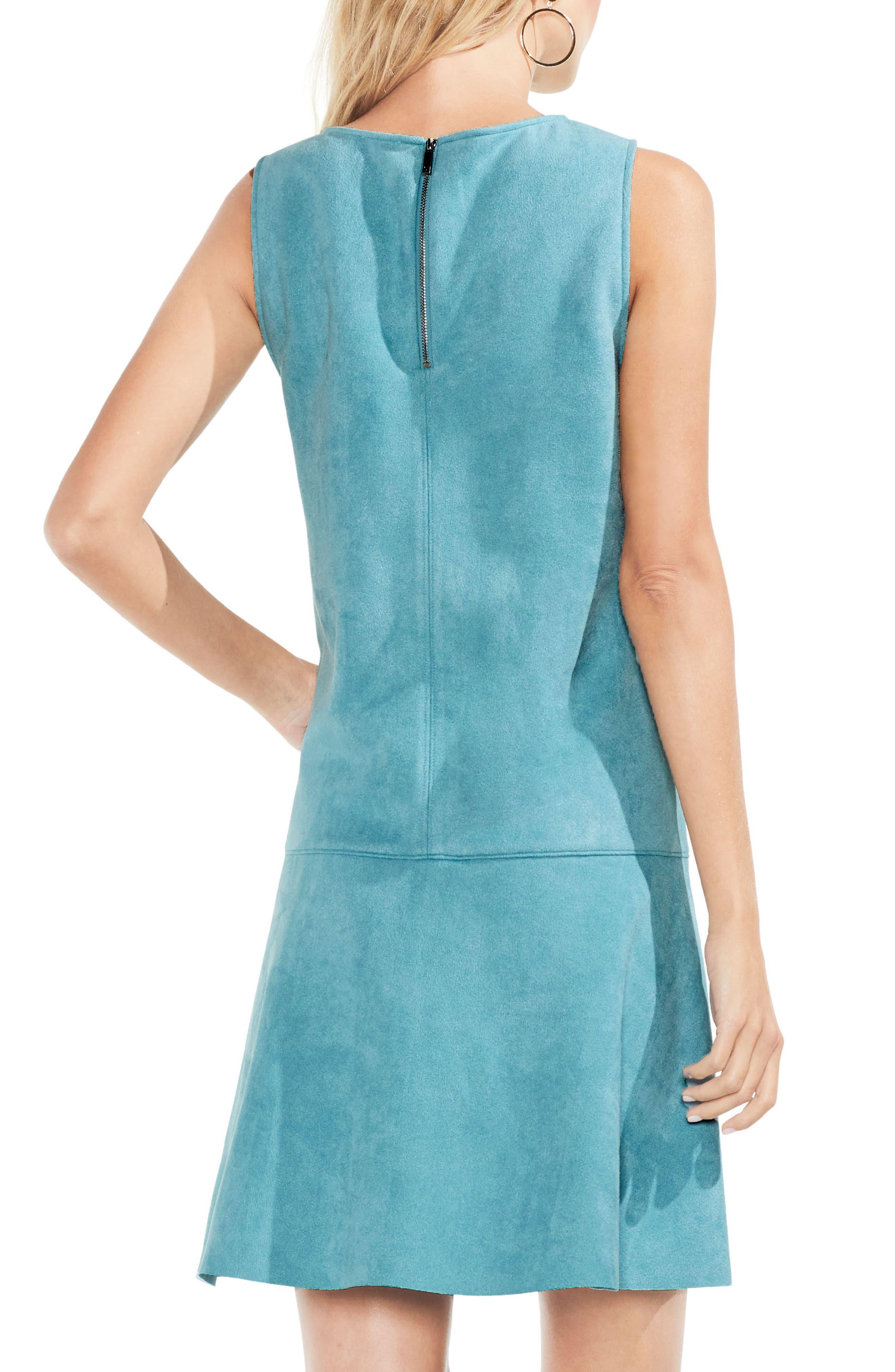Faux Suede Drop Waist Dress,                             Alternate thumbnail 2, color,                             475