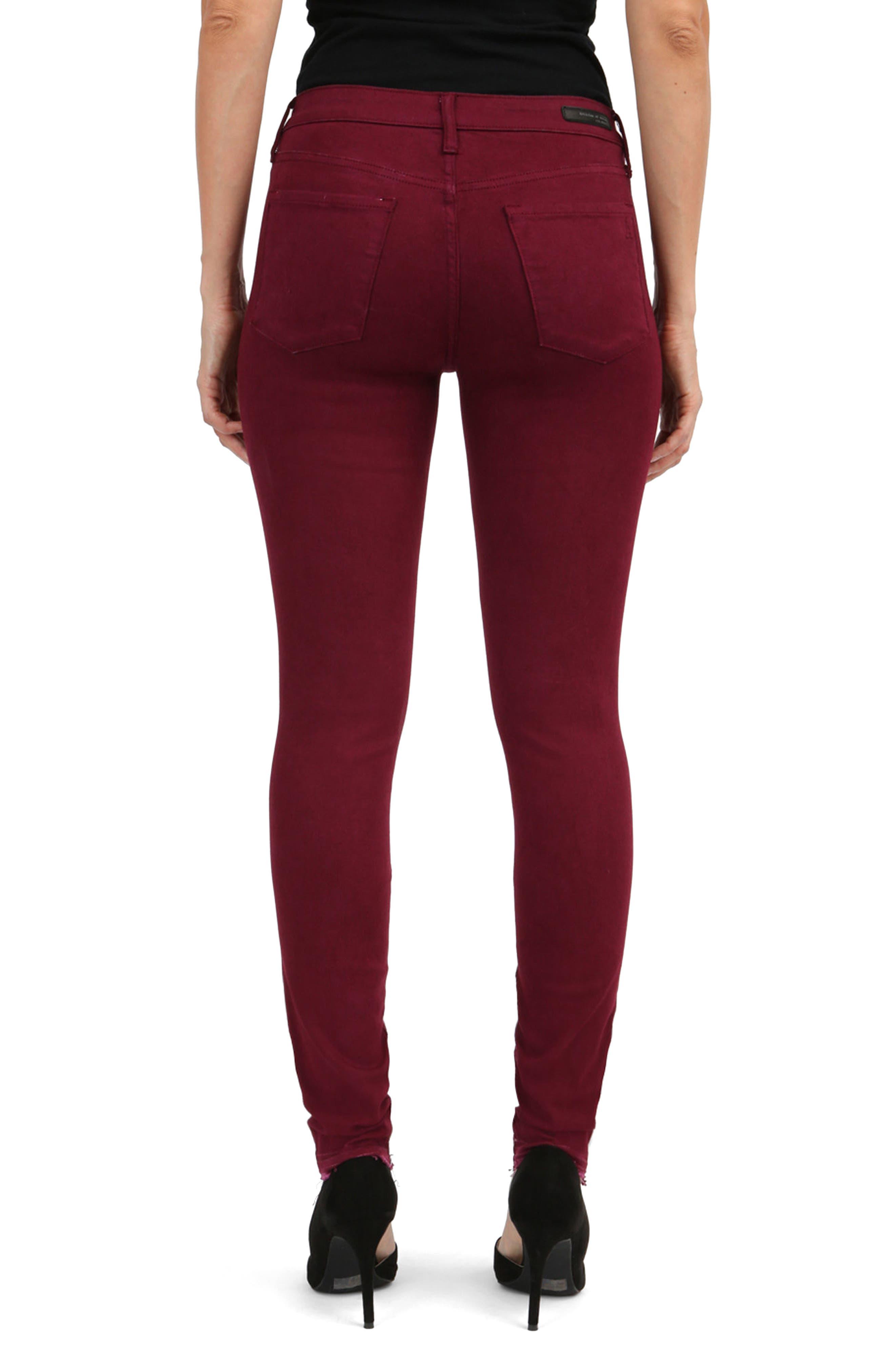Sarah Release Hem Skinny Jeans,                             Alternate thumbnail 2, color,                             616