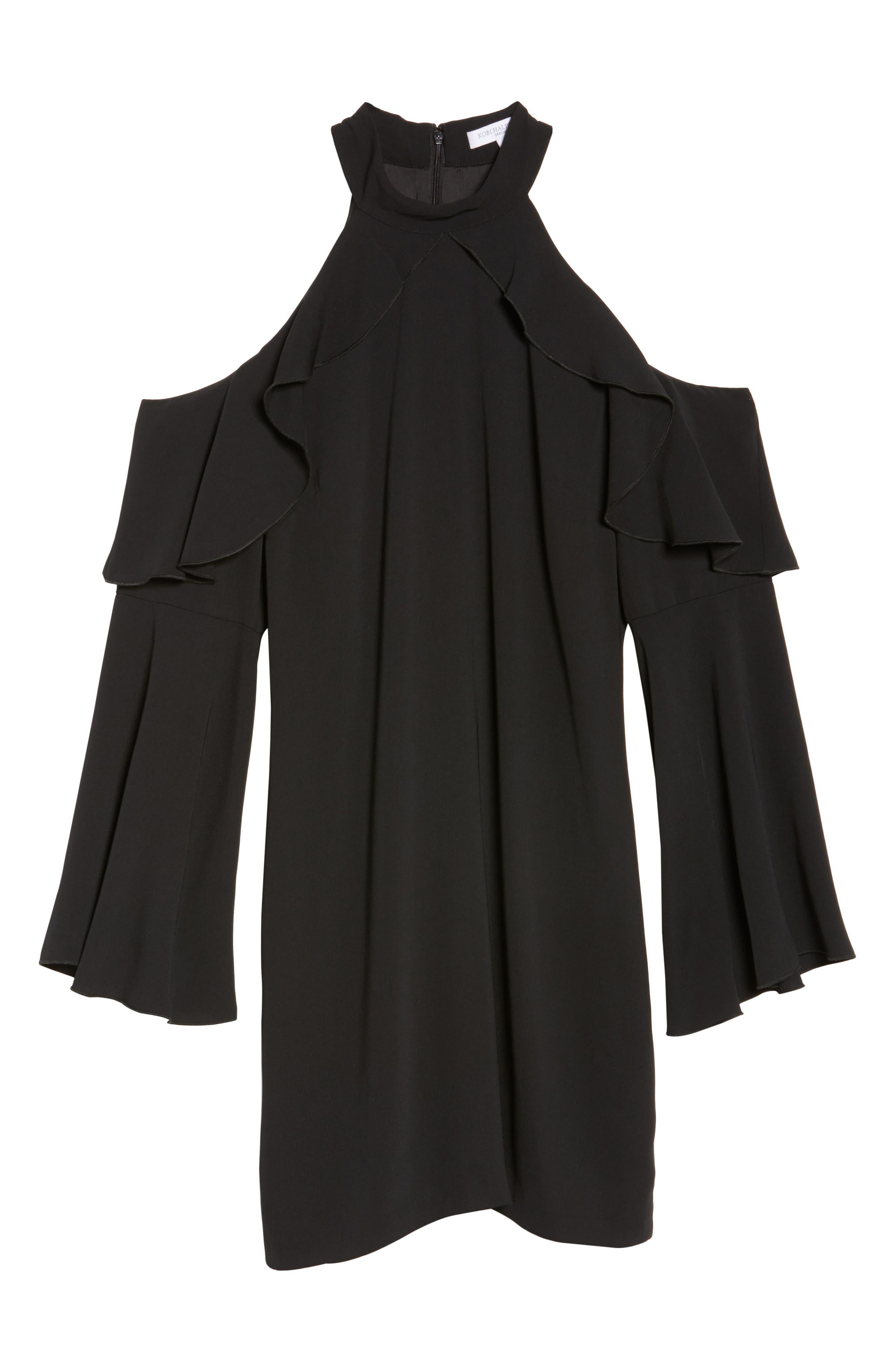 Sydney Cold Shoulder Dress,                             Alternate thumbnail 6, color,                             001