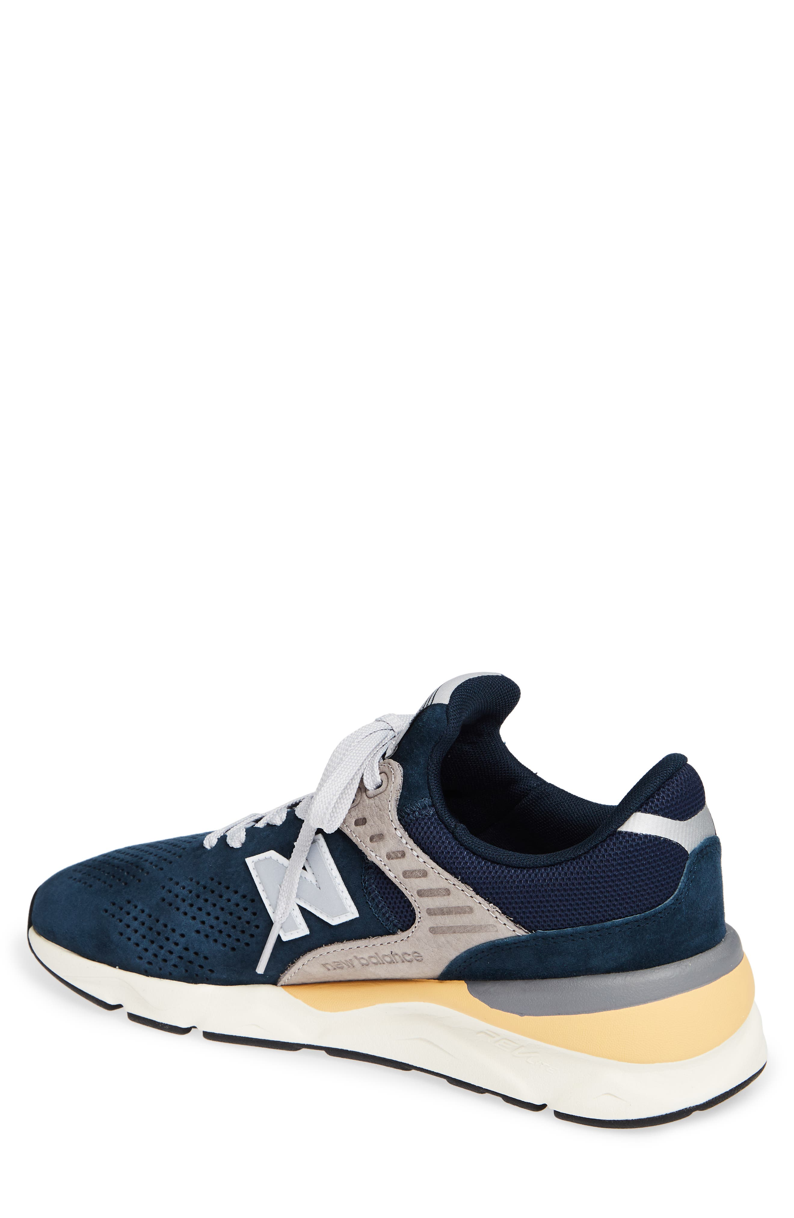 X-90 Leather Sneaker,                             Alternate thumbnail 2, color,                             NAVY SUEDE