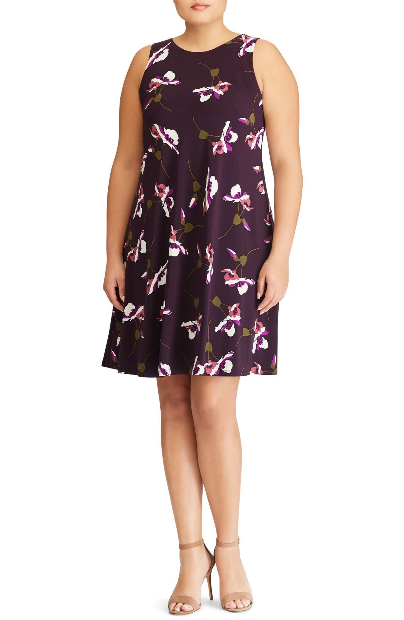 Suzan Scattered Poppies Shift Dress,                         Main,                         color, 400