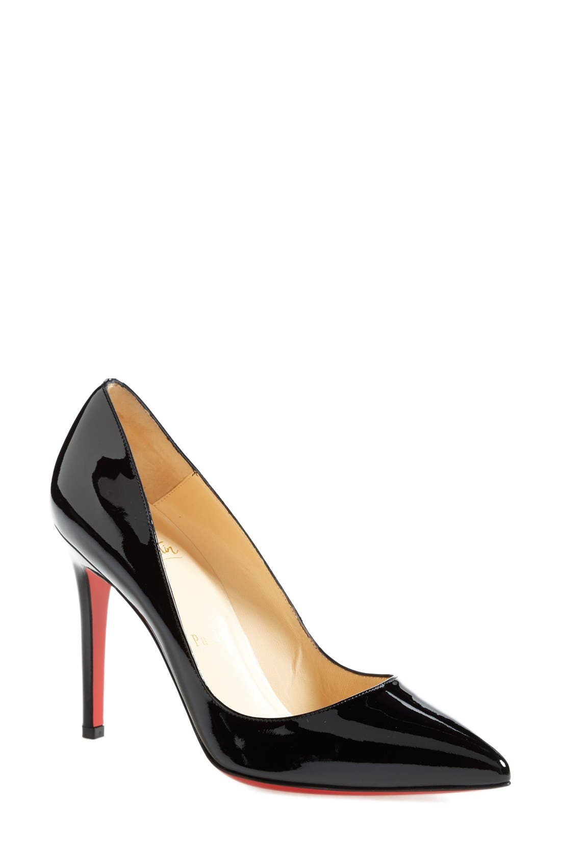 'Pigalle' Pointy Toe Pump,                             Main thumbnail 1, color,                             BLACK
