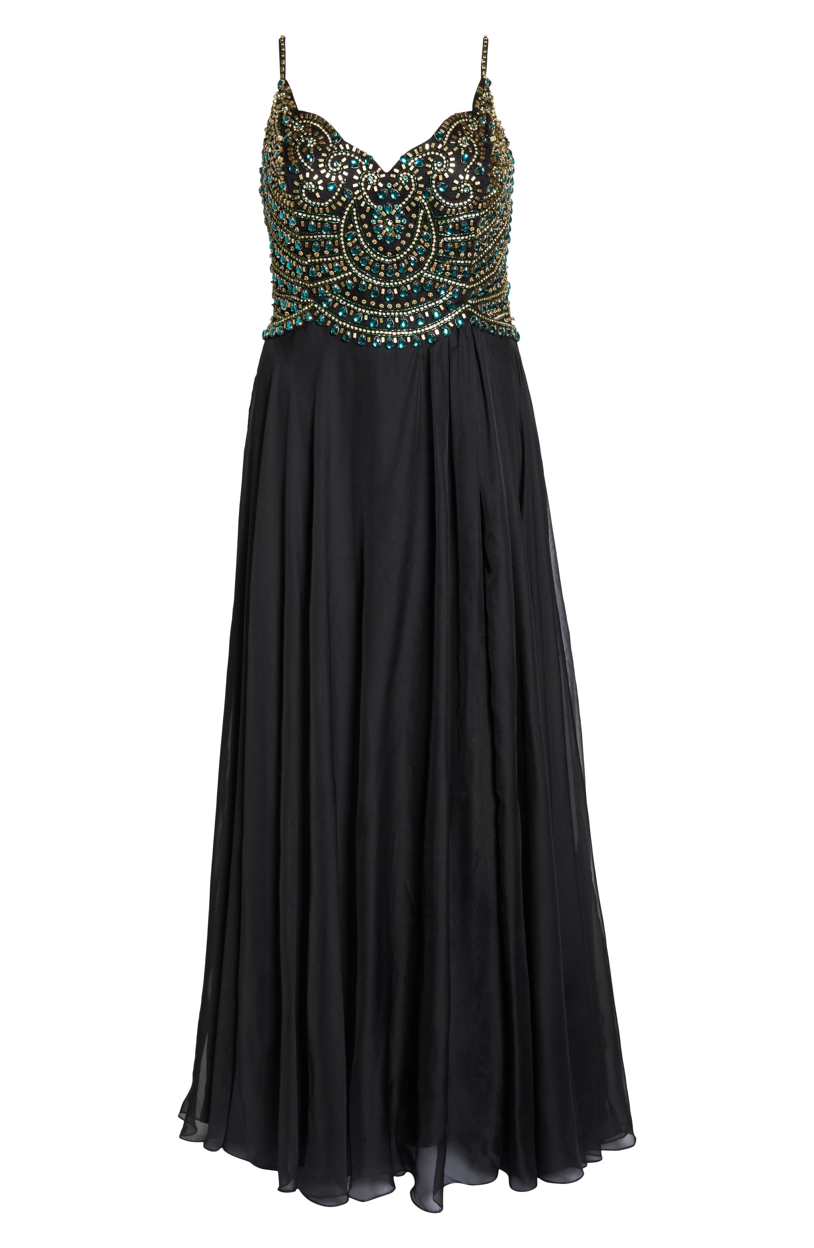 Embellished Gown,                             Alternate thumbnail 6, color,                             001