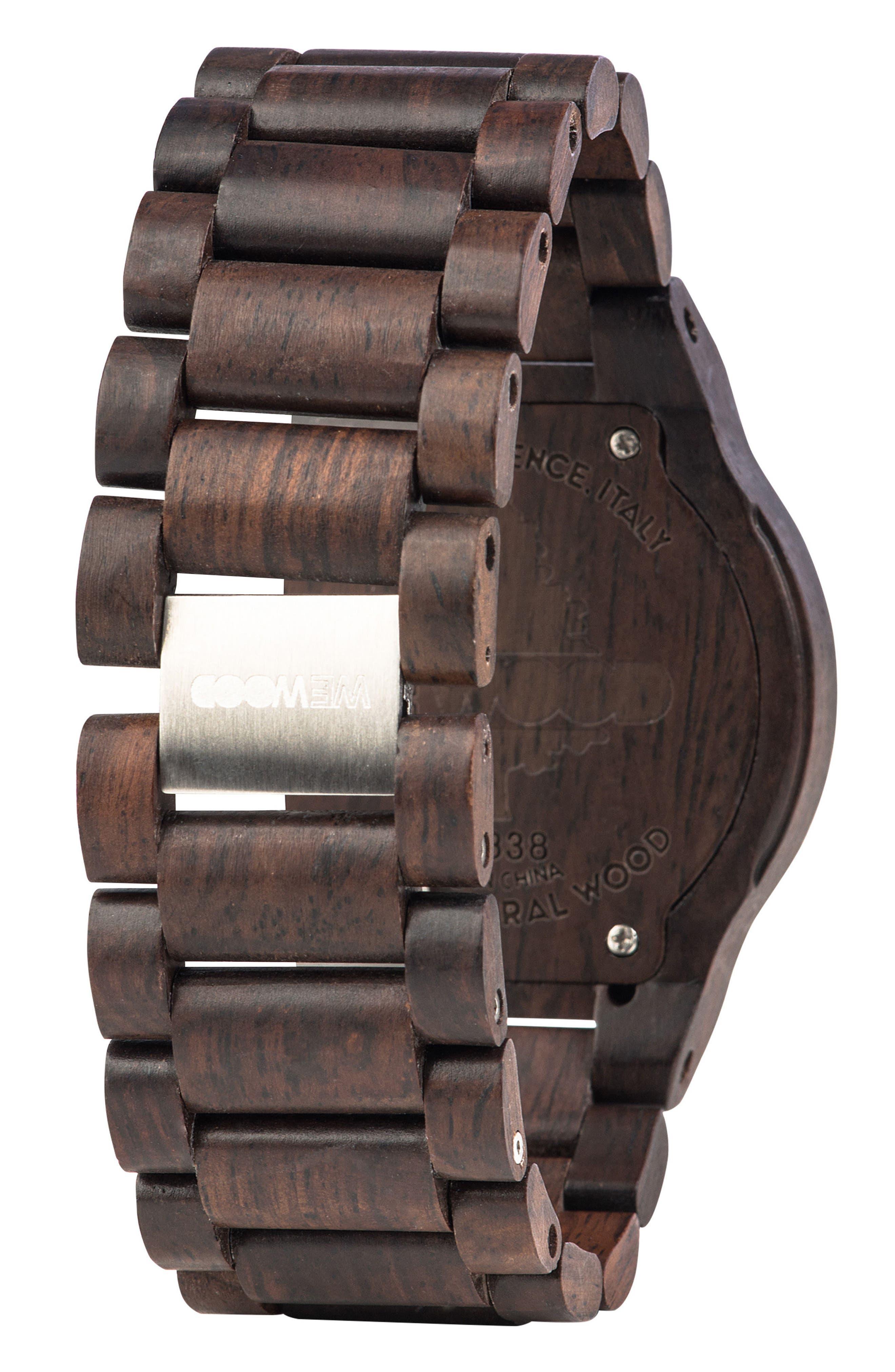 Kos Multifunctional Wood Bracelet Watch, 46mm,                             Alternate thumbnail 2, color,                             200