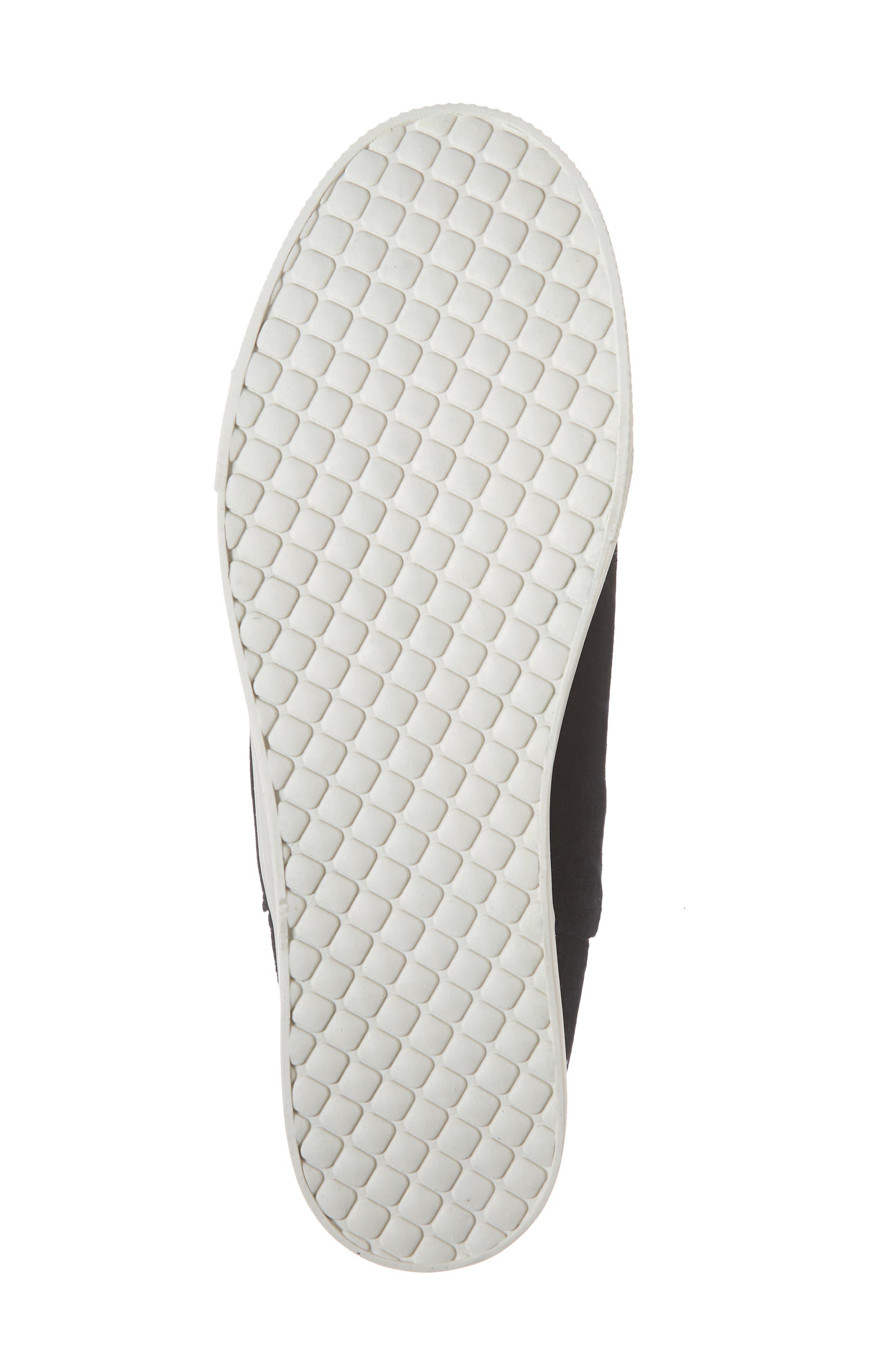 Wrangle Sneaker,                             Alternate thumbnail 6, color,                             BLACK SUEDE