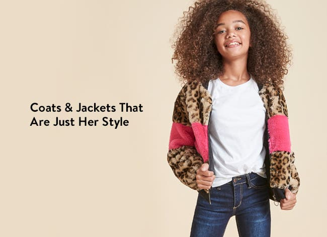 Girls' coats and jackets that are just her style.