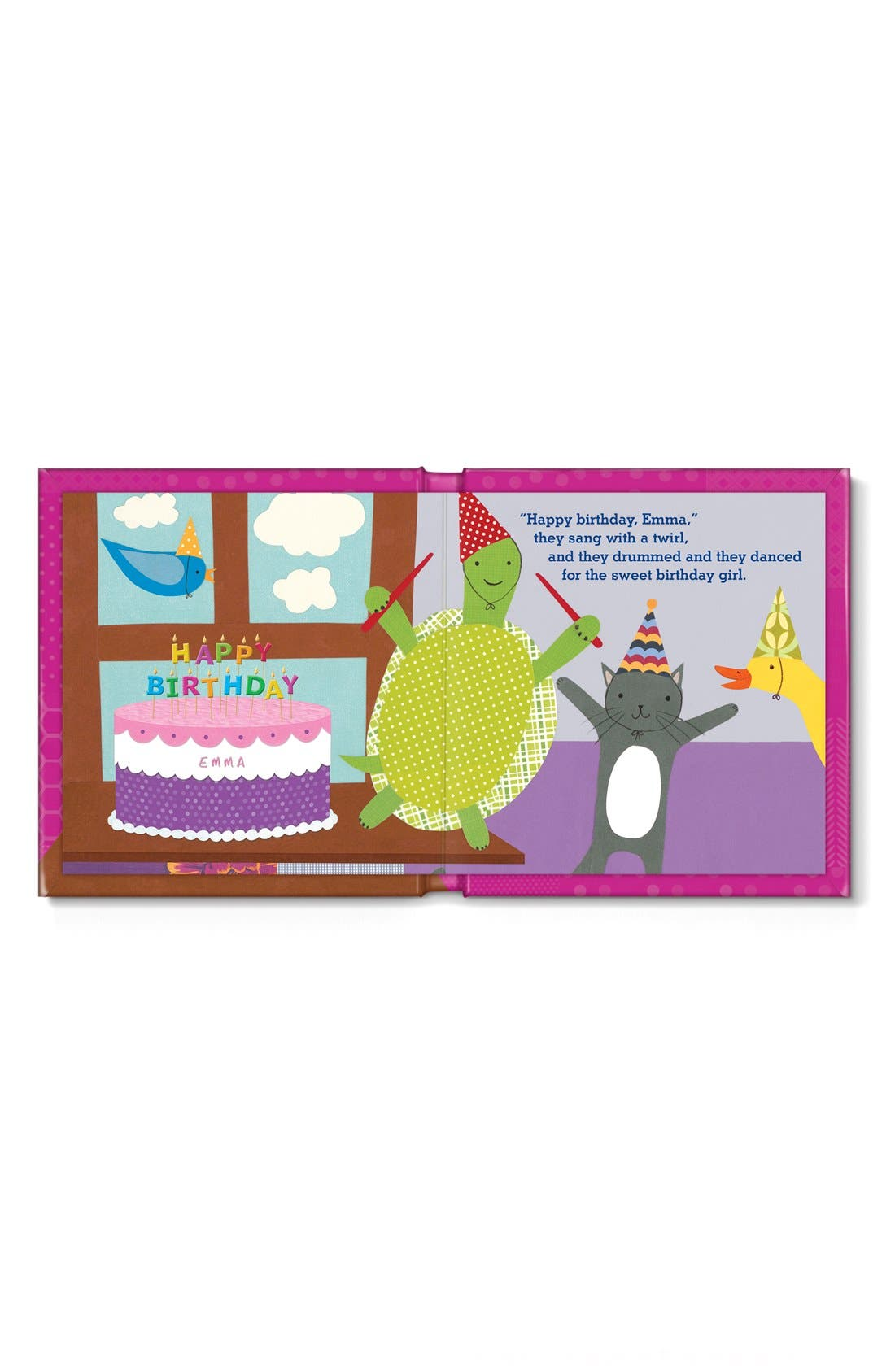 'My Very Happy Birthday' Personalized Book,                             Alternate thumbnail 3, color,                             PINK