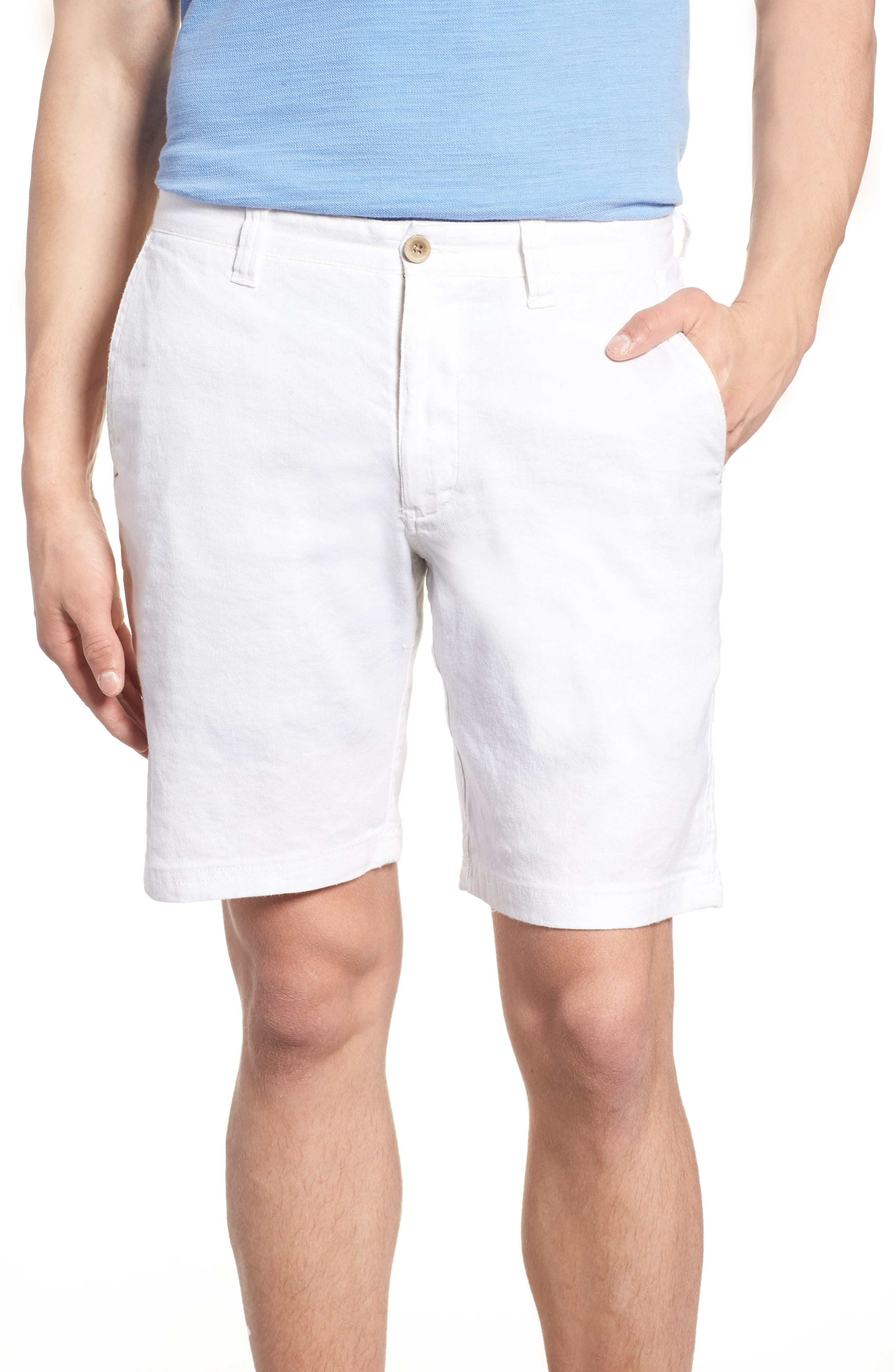 Beach Linen Blend Shorts,                             Main thumbnail 1, color,                             CONTINENTAL