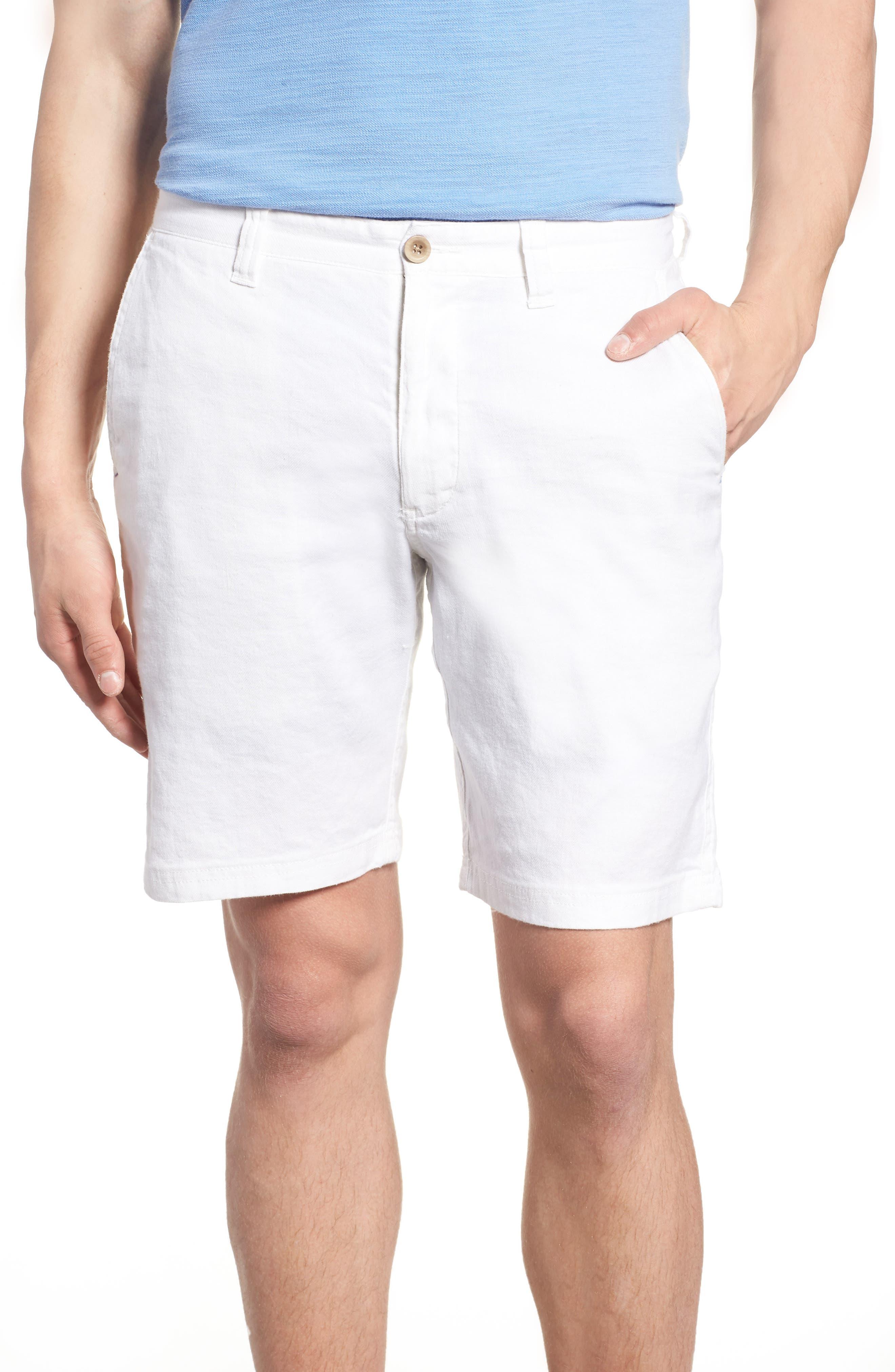 Beach Linen Blend Shorts,                         Main,                         color, CONTINENTAL