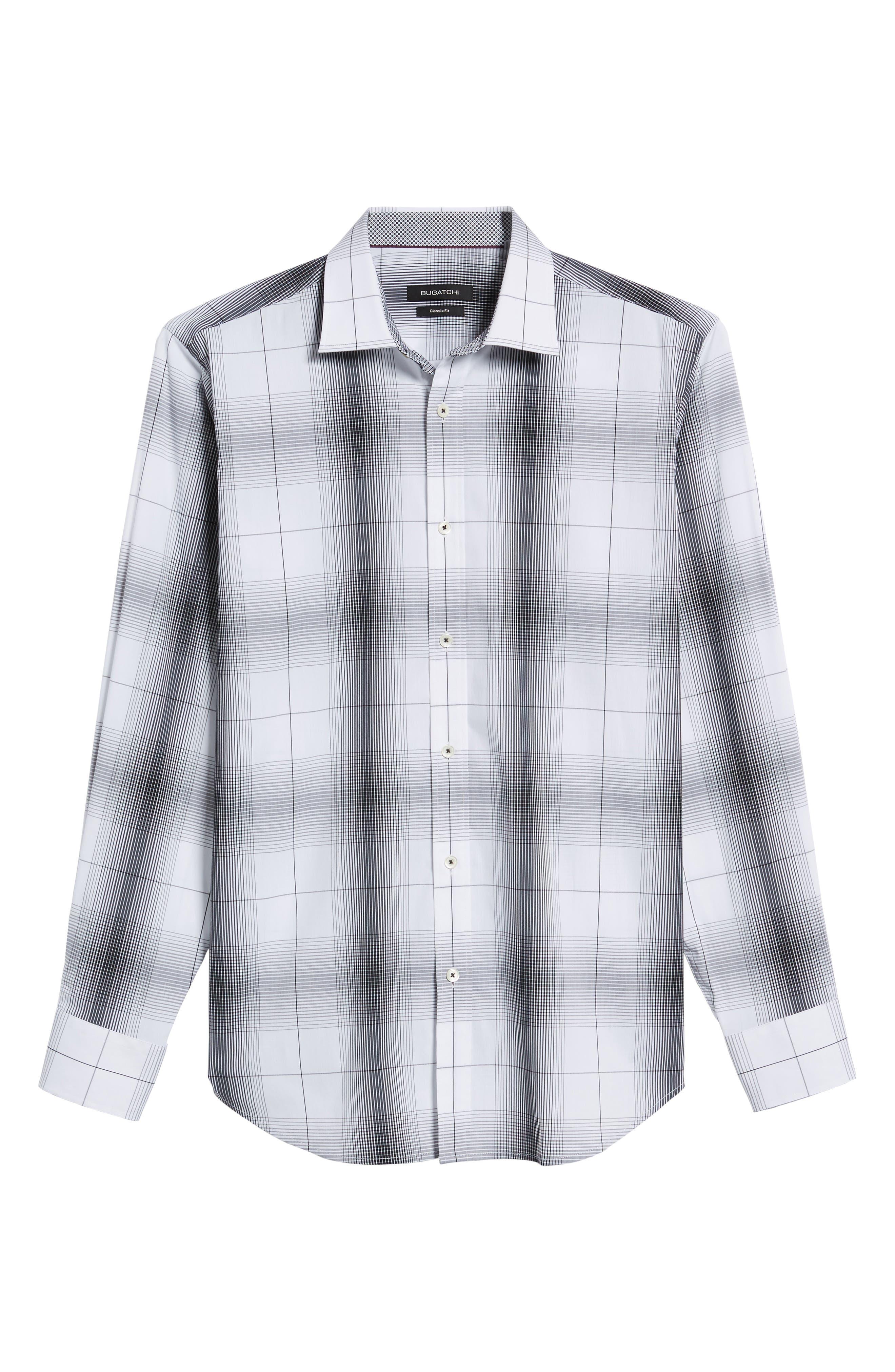 Classic Fit Ombré Plaid Sport Shirt,                             Alternate thumbnail 6, color,                             102