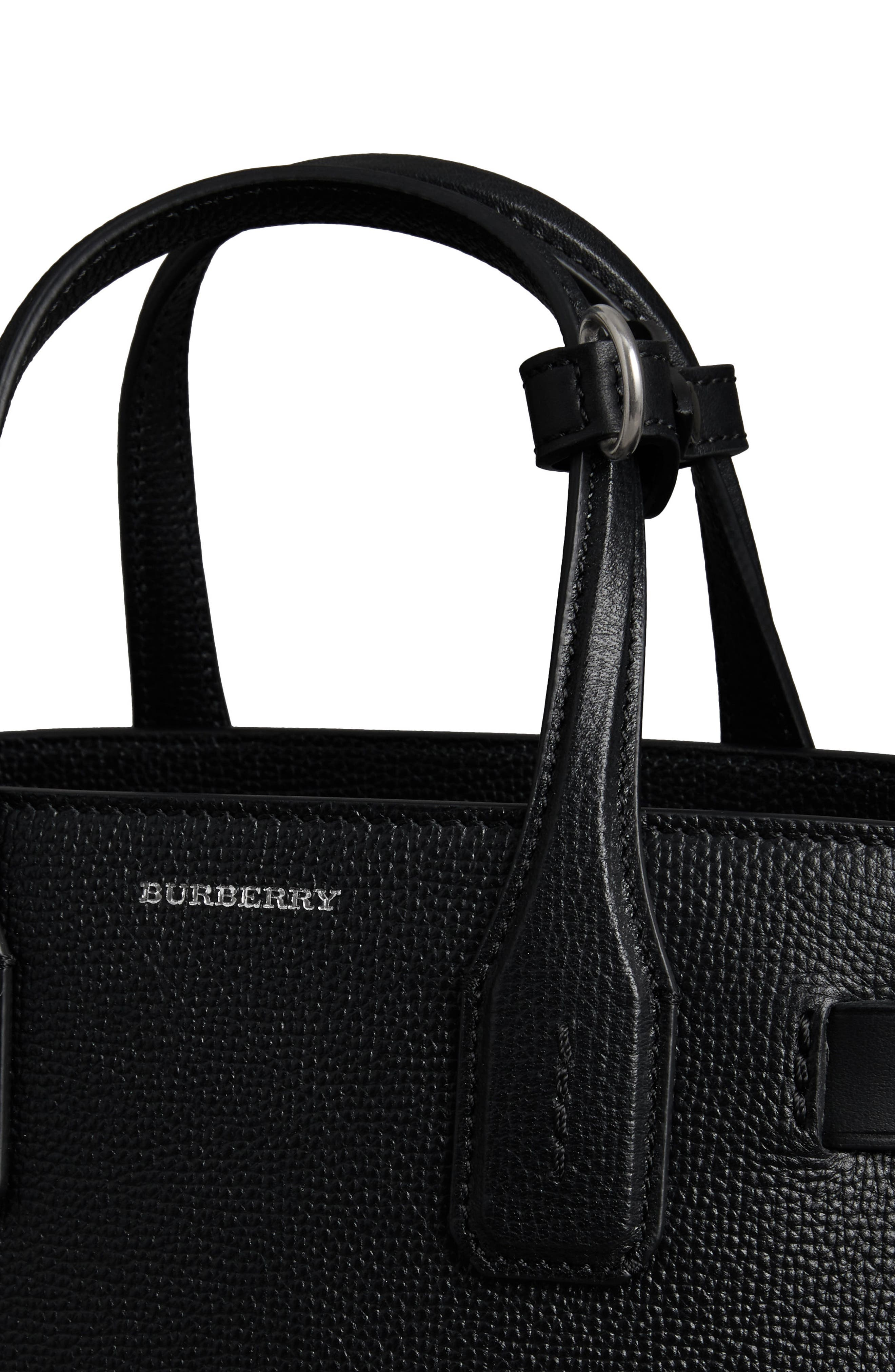 Small Banner Tote,                             Alternate thumbnail 7, color,                             BLACK