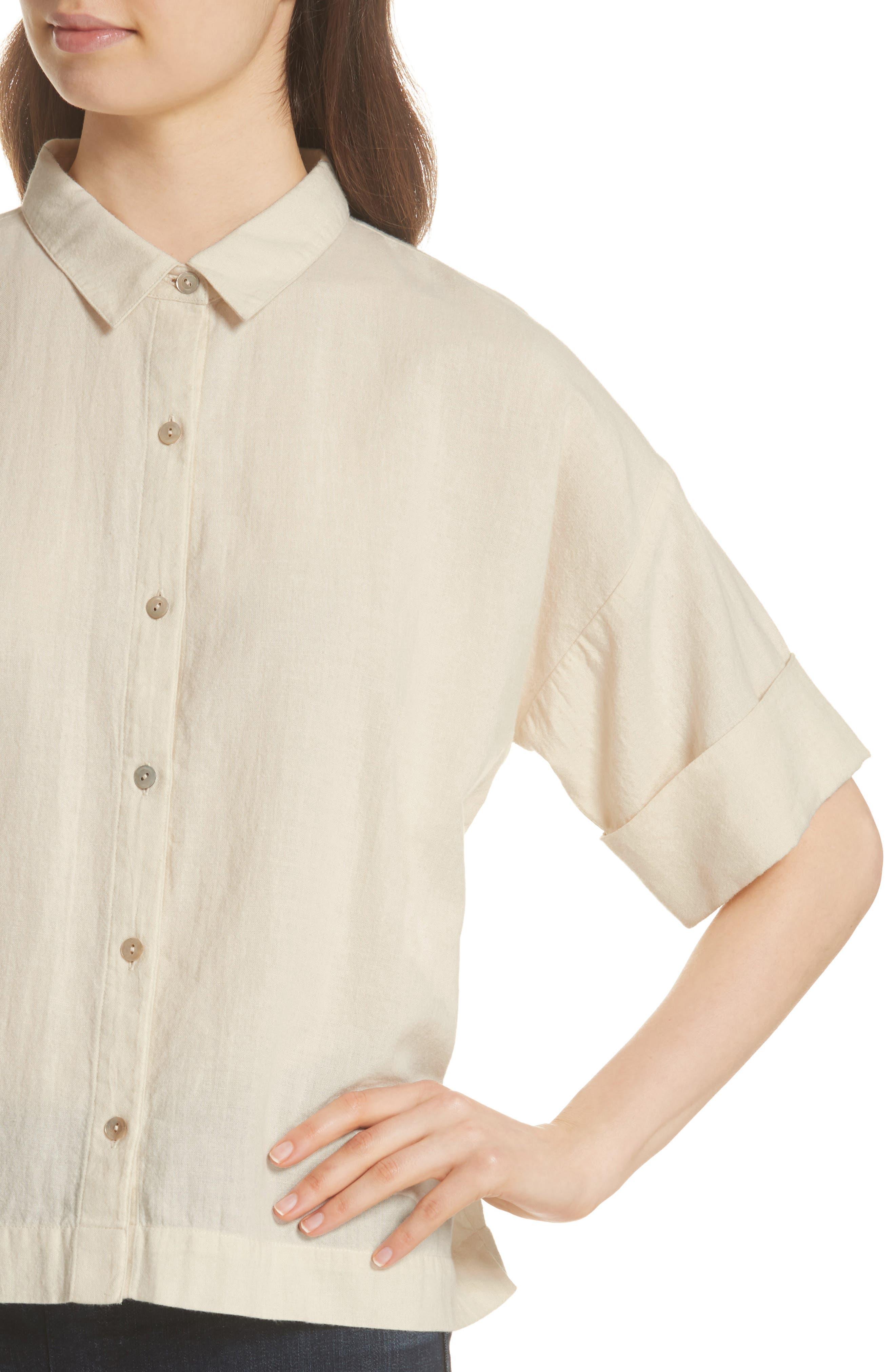 Classic Boxy Shirt,                             Alternate thumbnail 7, color,