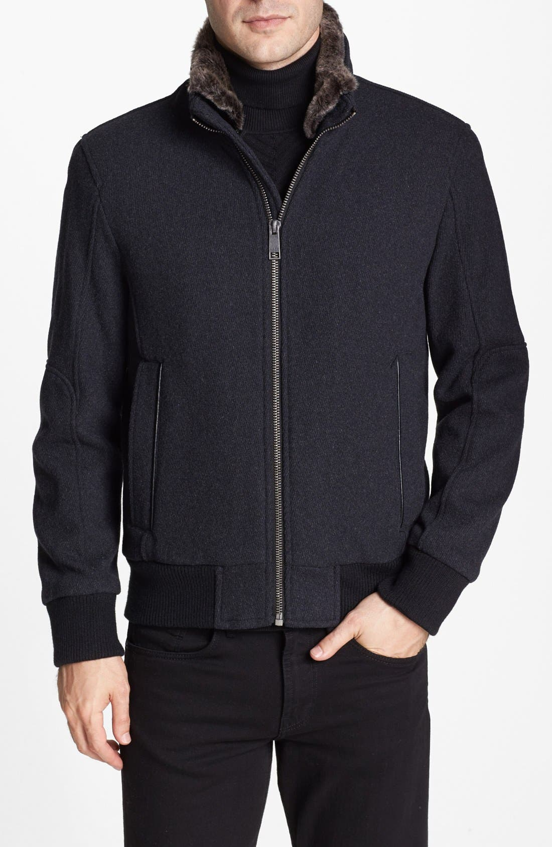 by Andrew Marc 'Troy' Bomber Jacket,                             Main thumbnail 1, color,                             029
