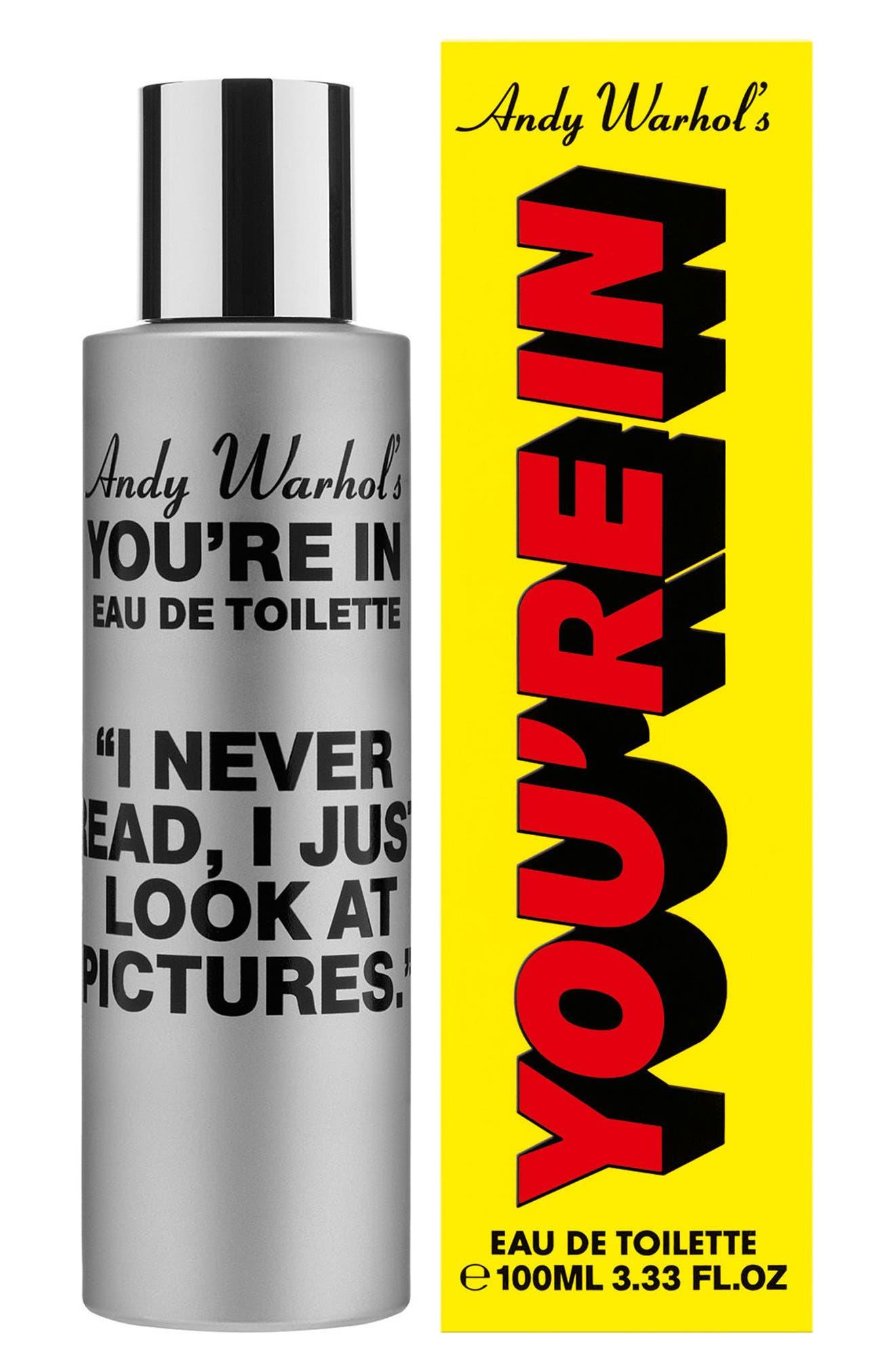 Andy Warhol You're In Unisex Eau de Toilette,                             Alternate thumbnail 8, color,                             I NEVER READ